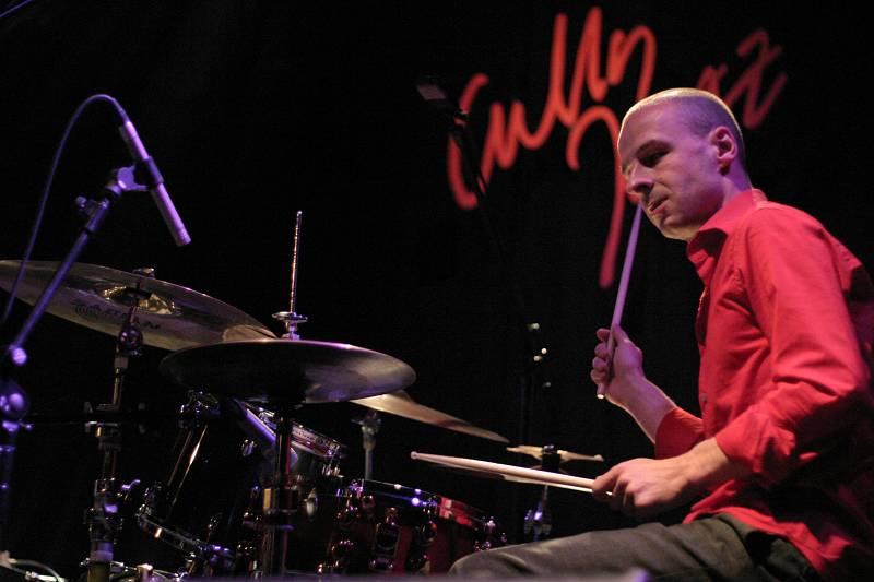 Bertrand Perrin with the Mina Agossi Trio at the Cully Jazz Festival, Switzerland, 2005