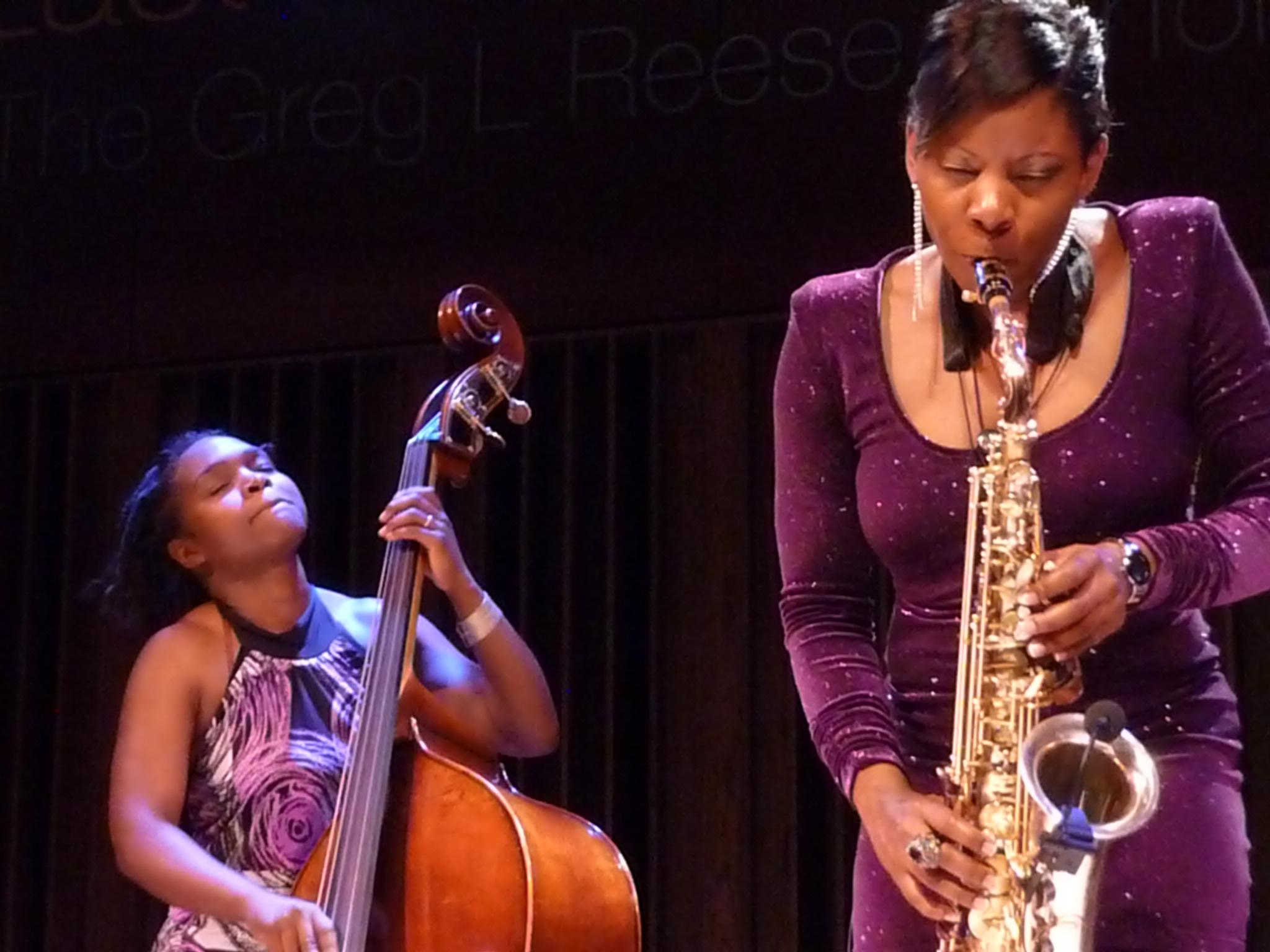 Mimi Jones and Tia Fuller at Tri-C Jazzfest Cleveland 2011