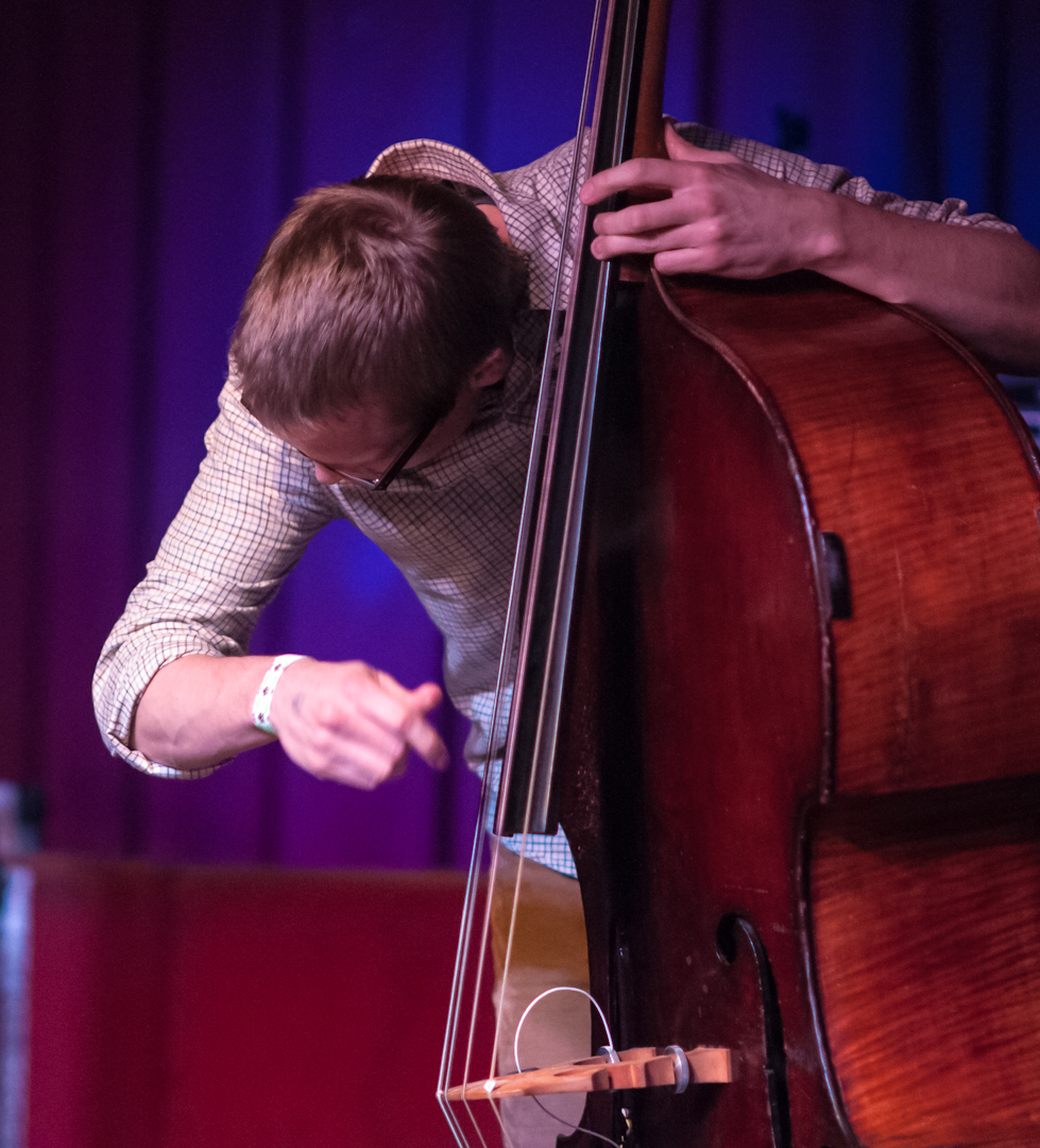 Eivind Opsvik with the Kris Davis Trio at the Undead Music Festival