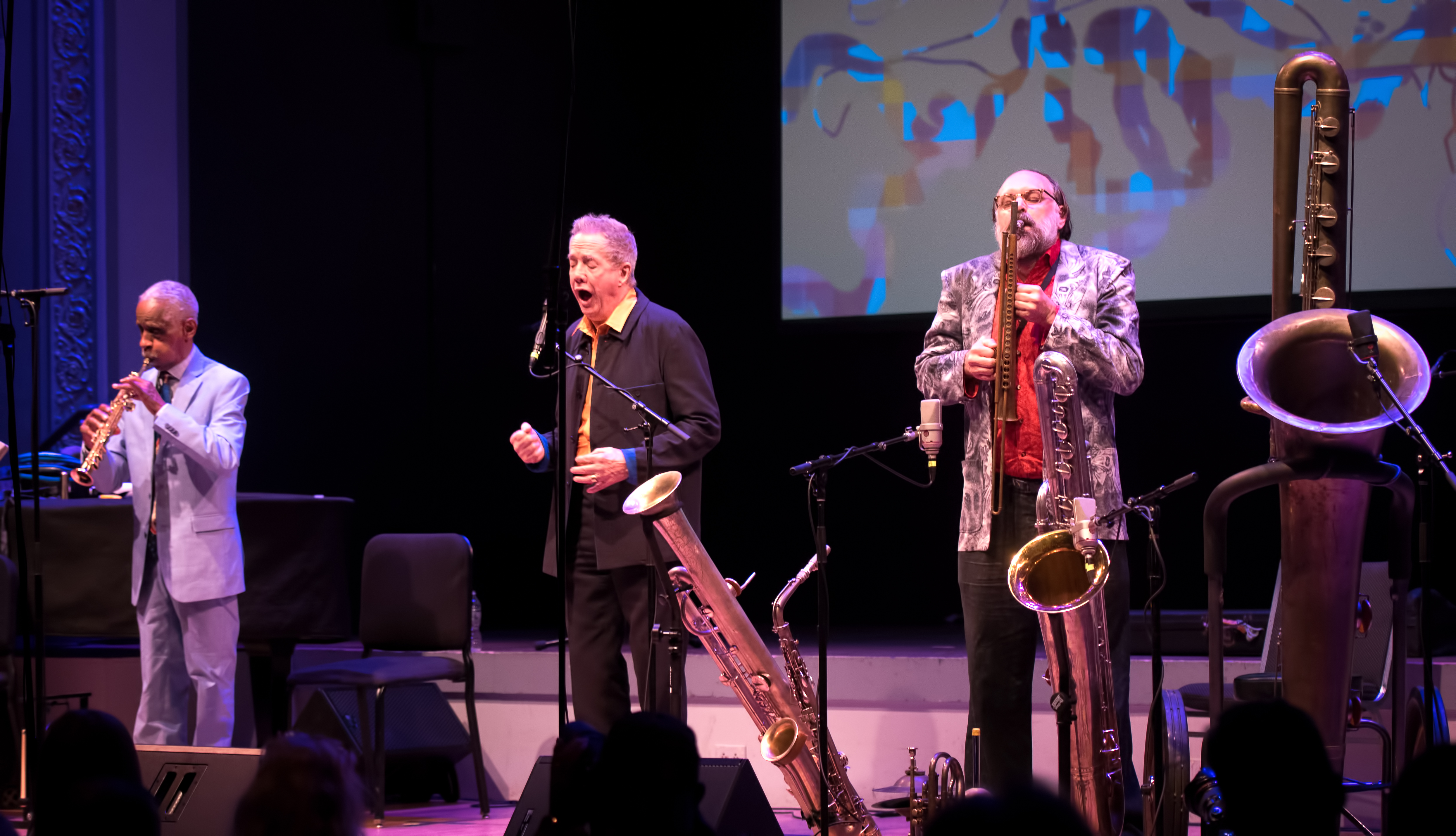 Roscoe Mitchell, Thomas Buckner and Scott Robinson with the Space Trio At the Vision Festival 2018