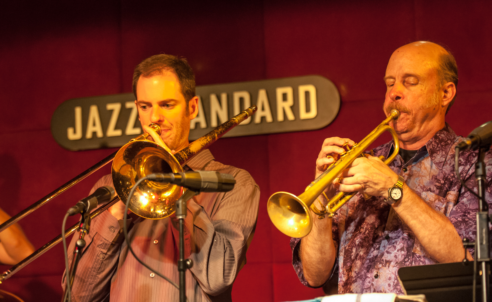 Joel Yennior and Tom Halter with the Either/Orchestra at the Jazz Standard