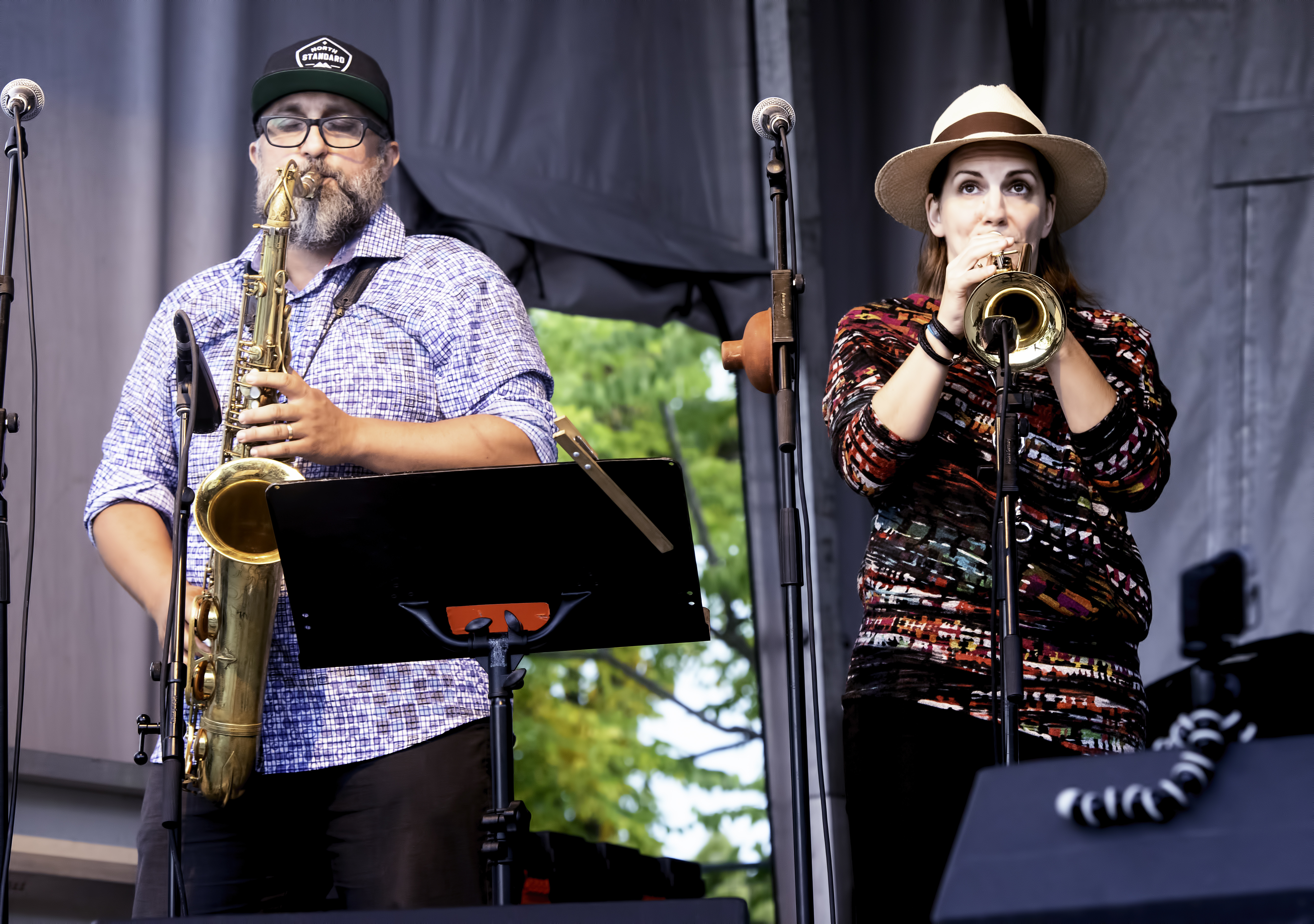 Petr Cancura and Rebecca Hennessy with Way North at the Guelph Jazz Festival 2019