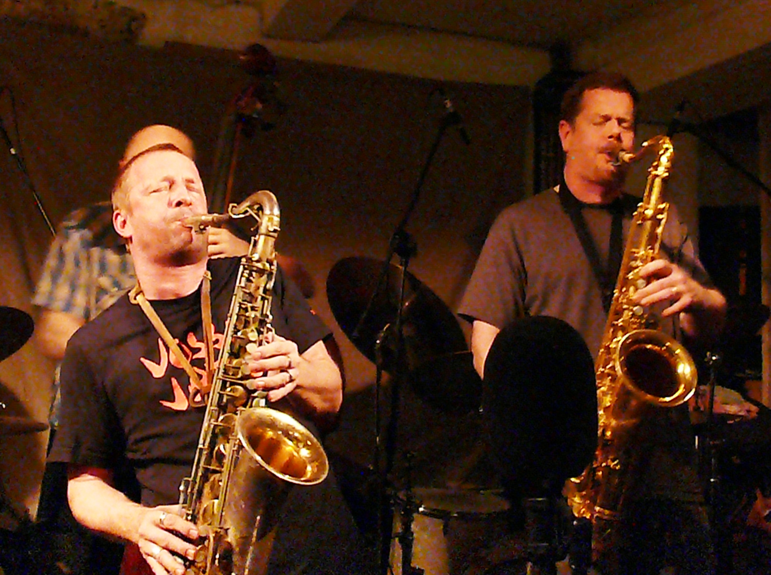 Mats Gustafsson and Ken Vandermark at Cafe Oto, London in November 2012