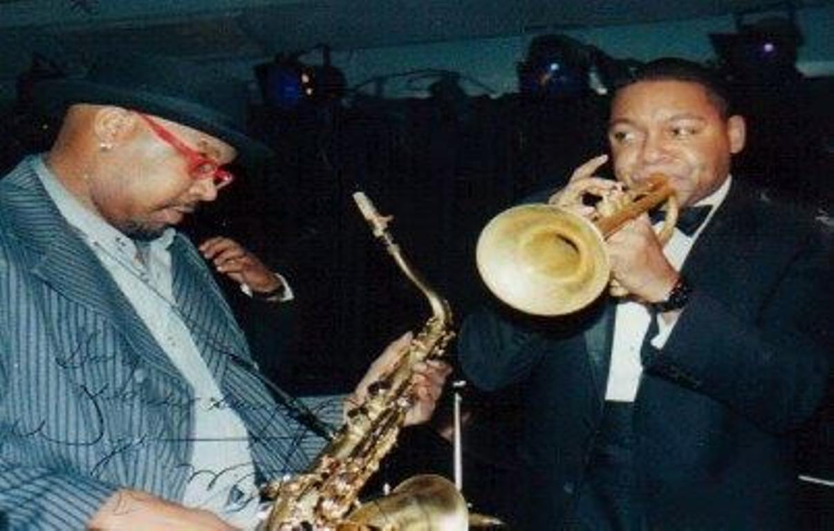 Wynton Marsalis and Detroit Gary Wiggins at the A-Trane
