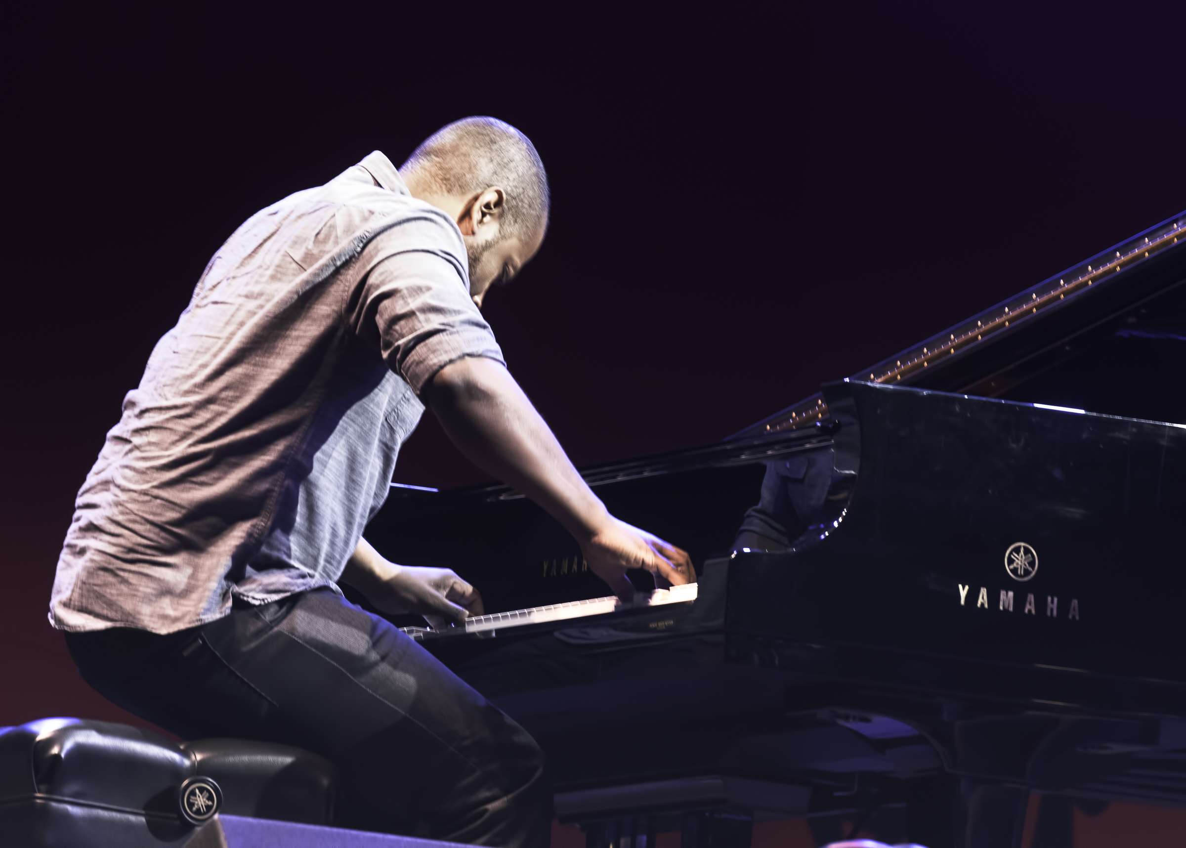 Michael Mitchell with Leslie Odom Jr. at the Monterey Jazz Festival