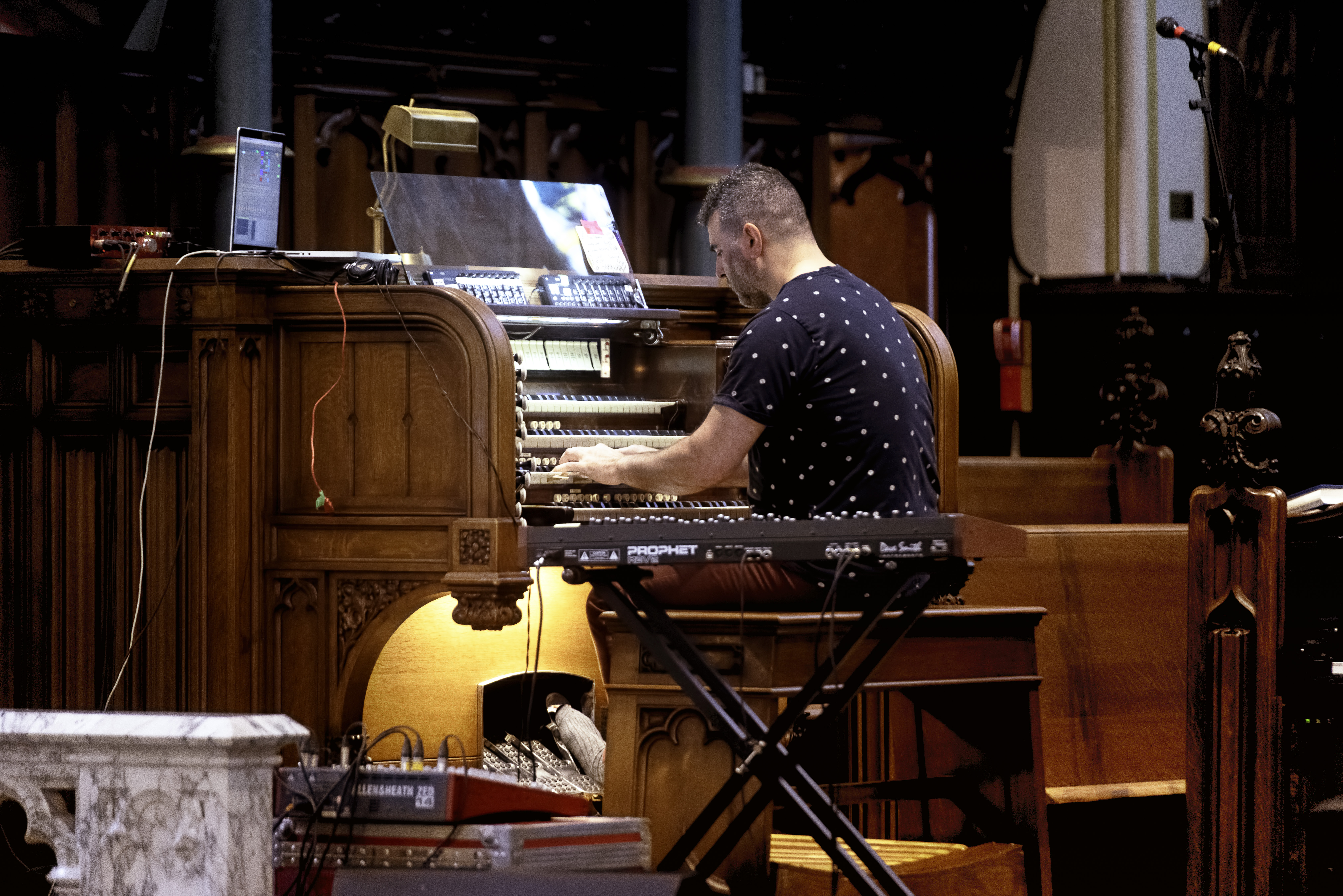 John Kameel Farah at St. Georges Church at the Guelph Jazz Festival 2019