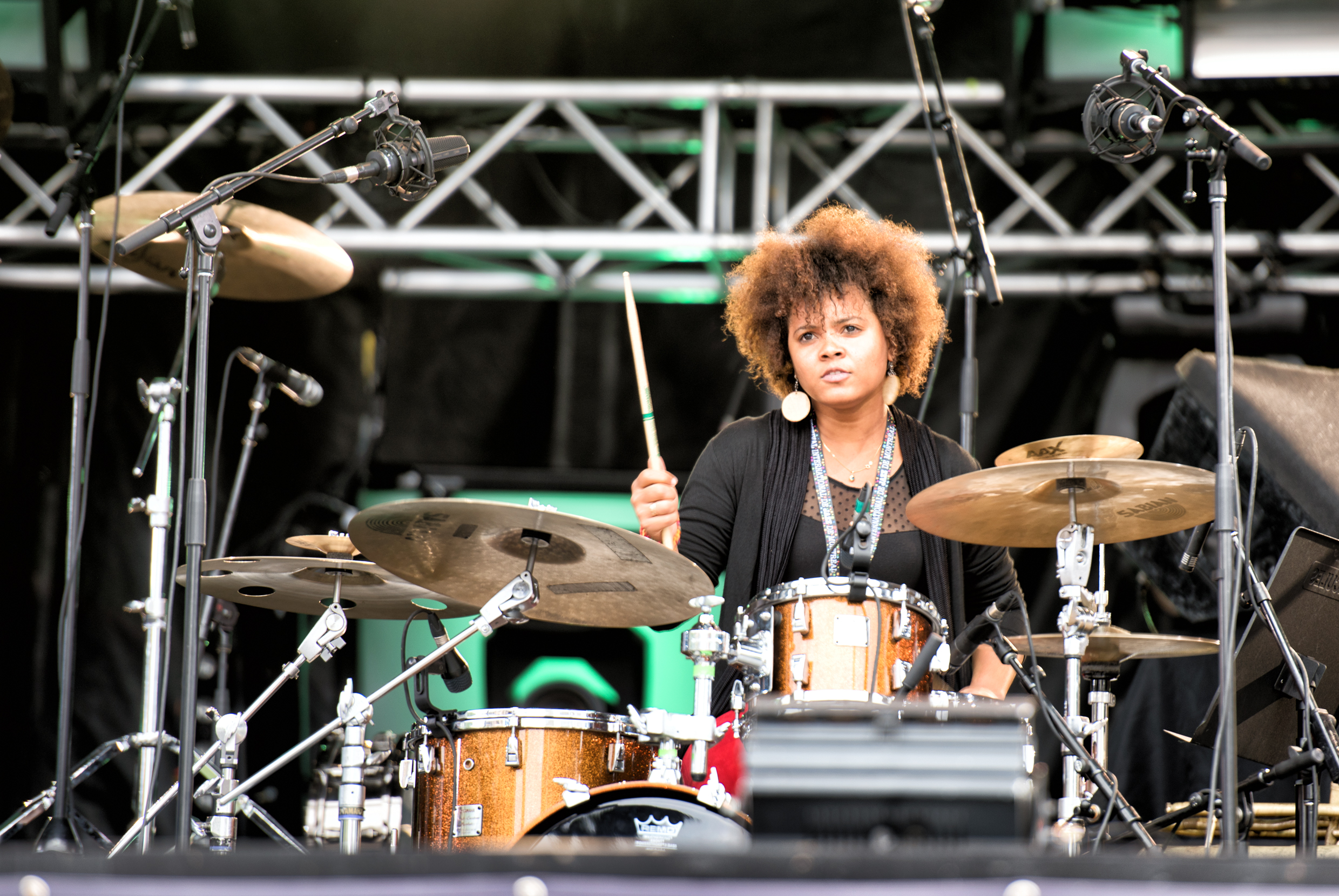 Yissy Garcia with Jane Bunnett and Maqueque at the Montreal International Jazz Festival 2015
