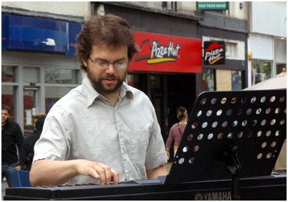 Tom Cawley 24133 Croydon Jazz Festival, North End, Croydon, UK. June 2008 Images of Jazz
