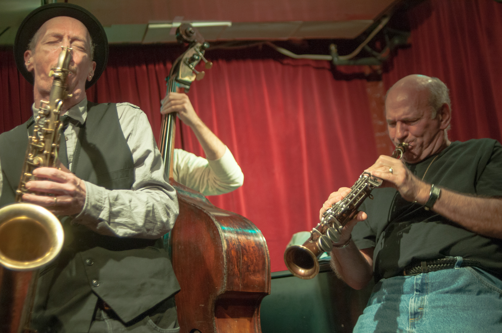 Ellery Eskelin and David Liebman with Quintet at the Cornelia Street Cafe