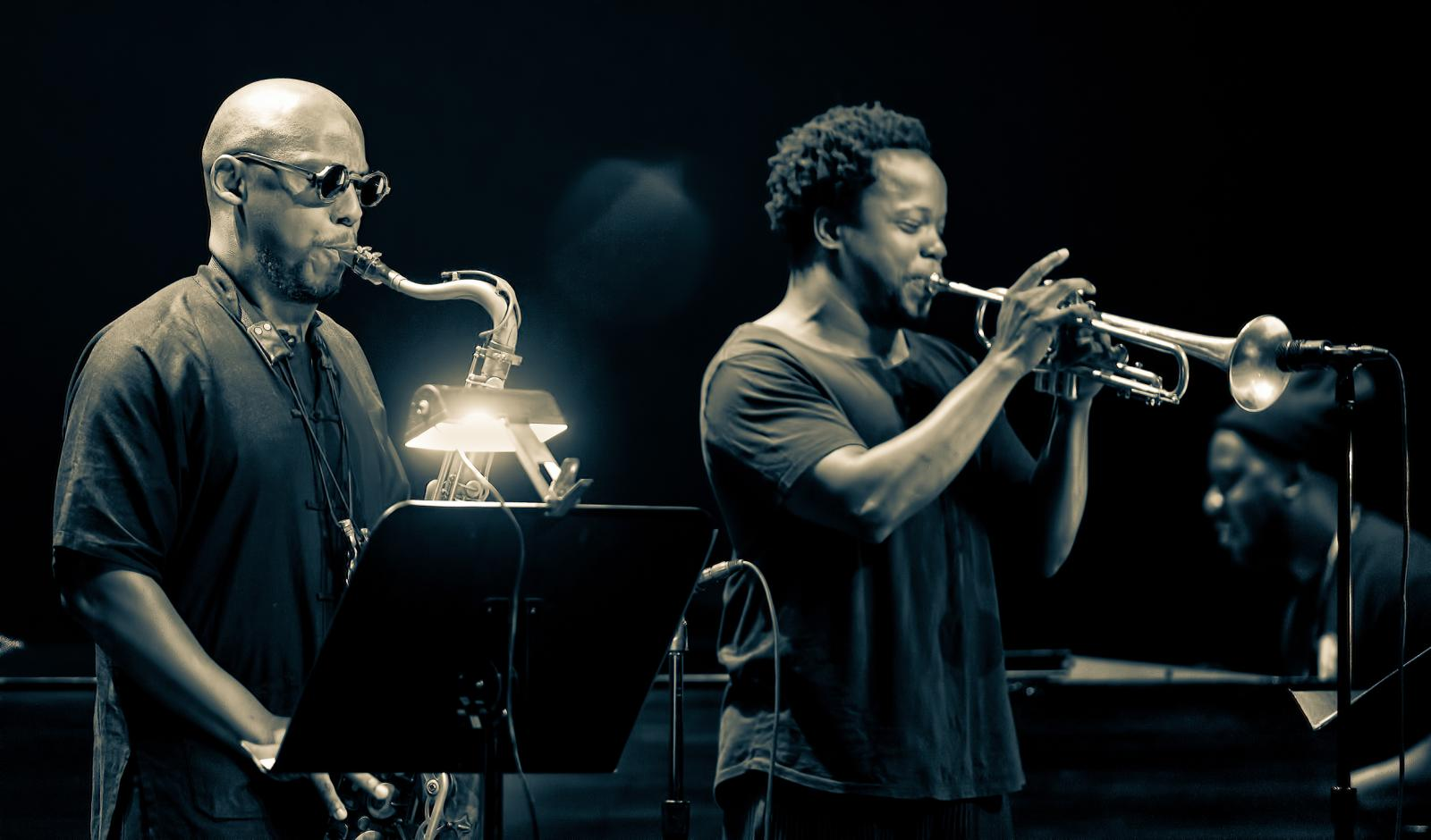 Marcus Strickland and Ambrose Akinmusire with Blue Note 75 at the Montreal International Jazz Festival 2016