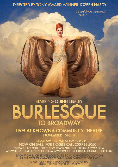 Quinn Lemley in Burlesque to Broadway Cape