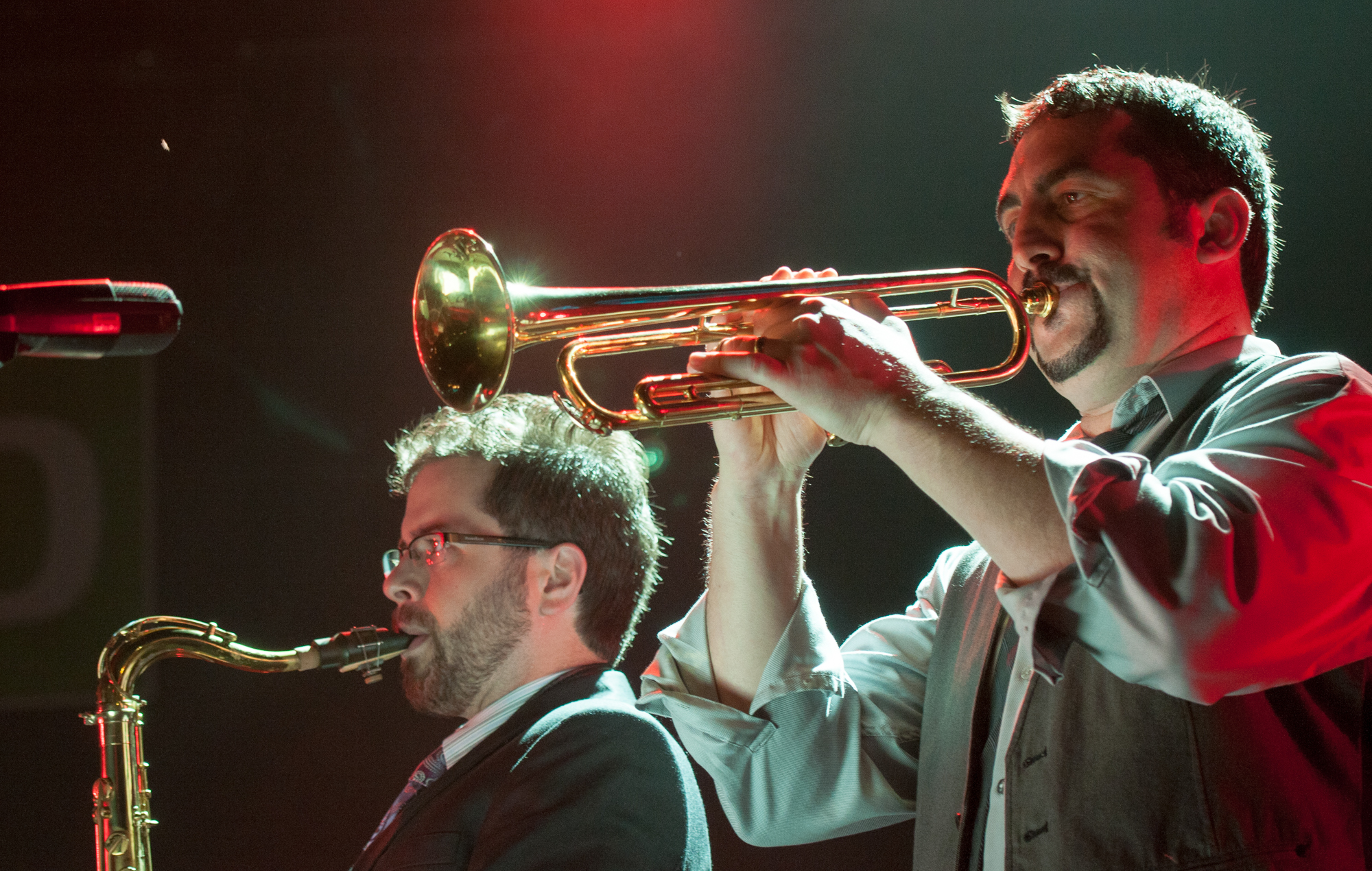 Evan cobb and jon-paul frappier with charles walker and the dynamites at the montreal international jazz festival 2013