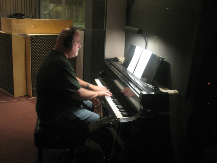 Brian piper recording track for