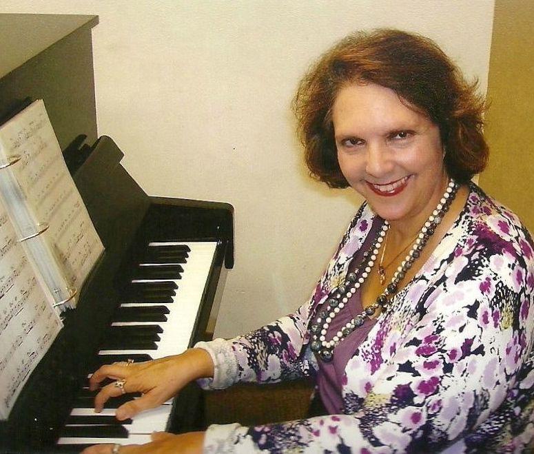 Nina Beck playing piano at Local 47 Professional Musicians Union