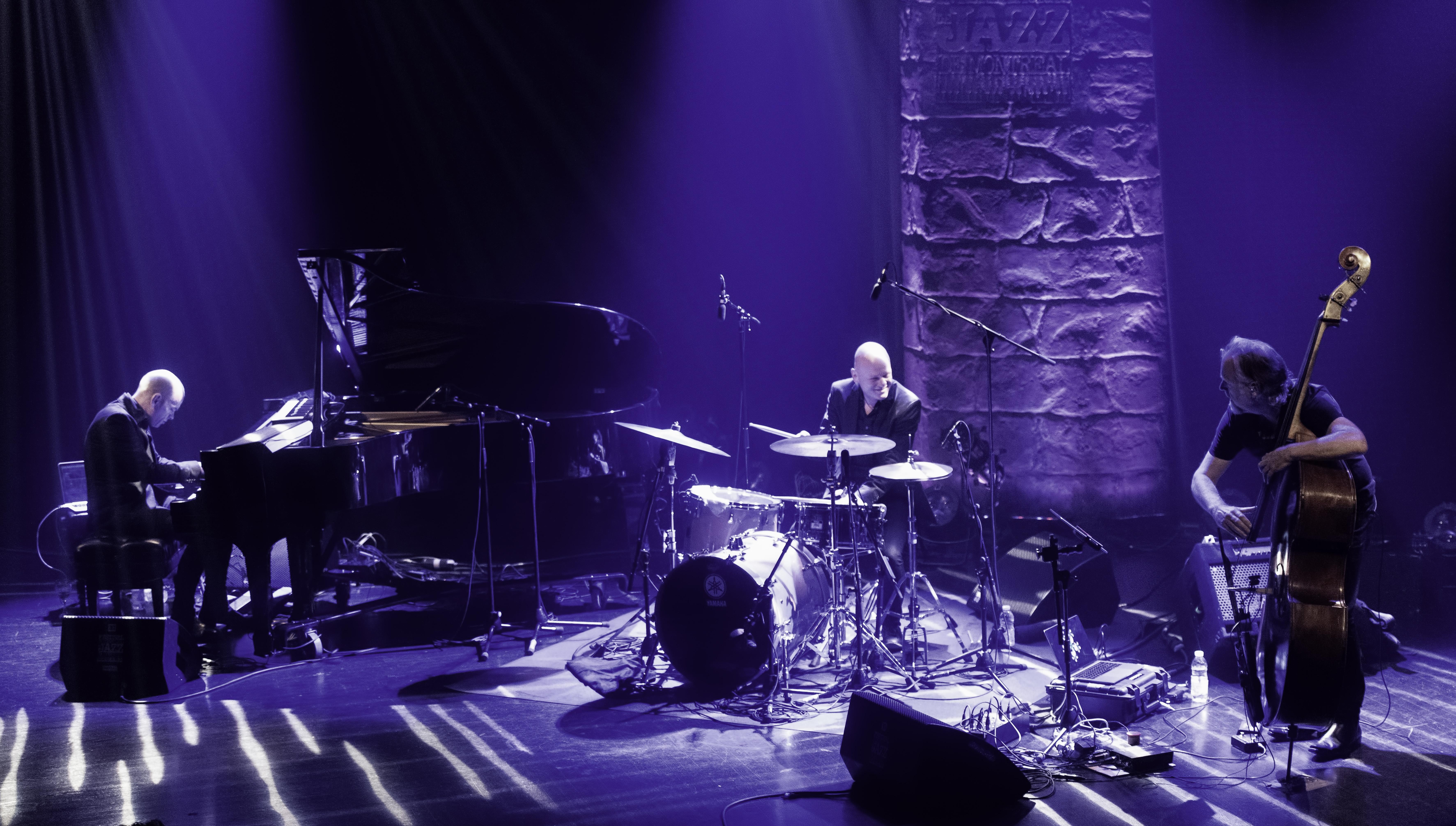 Tord Gustavsen, Jarle Vespestad and Gjermund Silset with the Tord Gustavsen Trio At The Montreal International Jazz Festival 2019