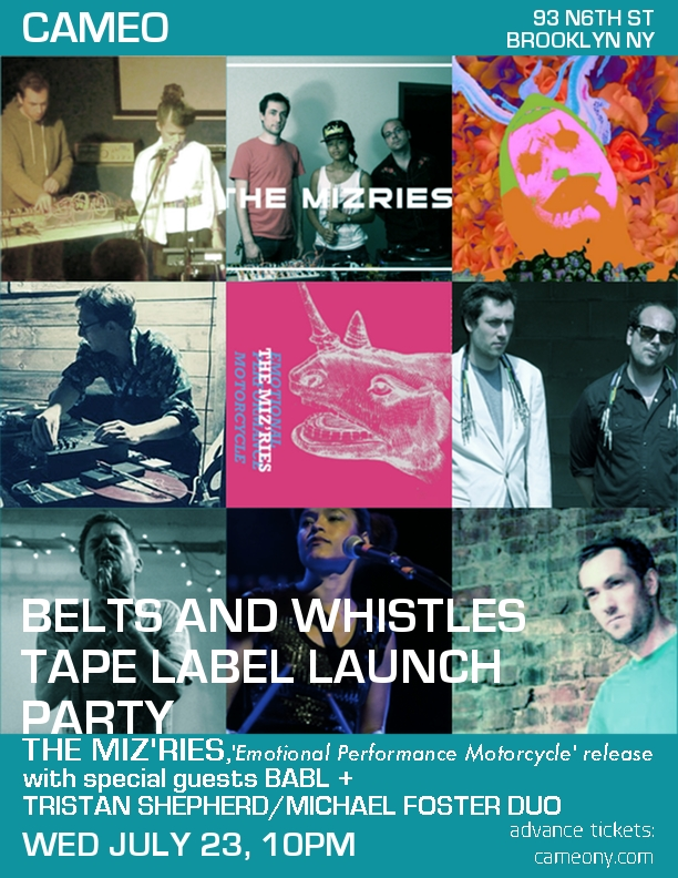 Belts And Whistles Tape Label Launch Ticket Giveaway