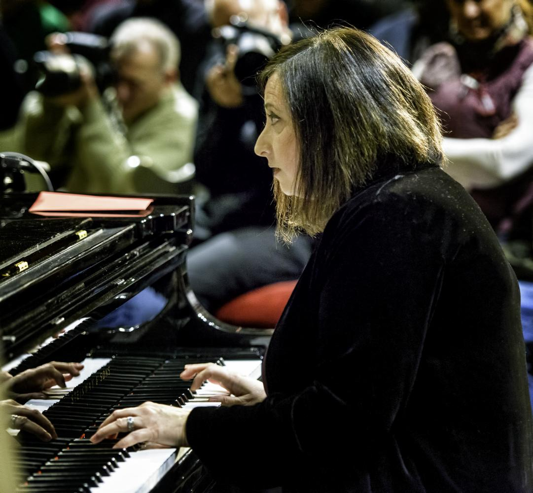 Renee Rosness At The Jazz Legends For Disability Pride At The NYC Winter Jazzfest 2017