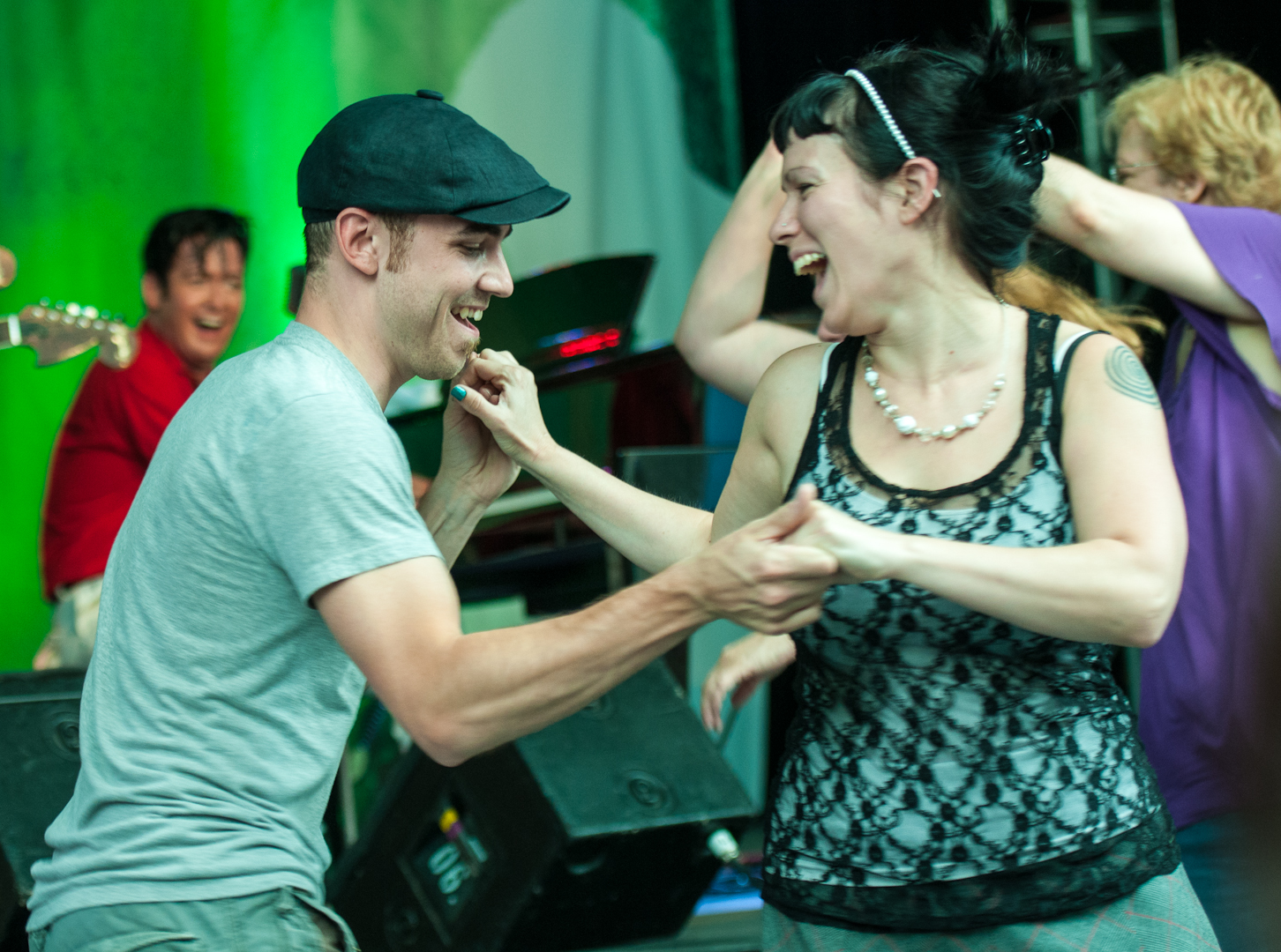 Swing Dancers At The Montreal International Jazz Festival 2012