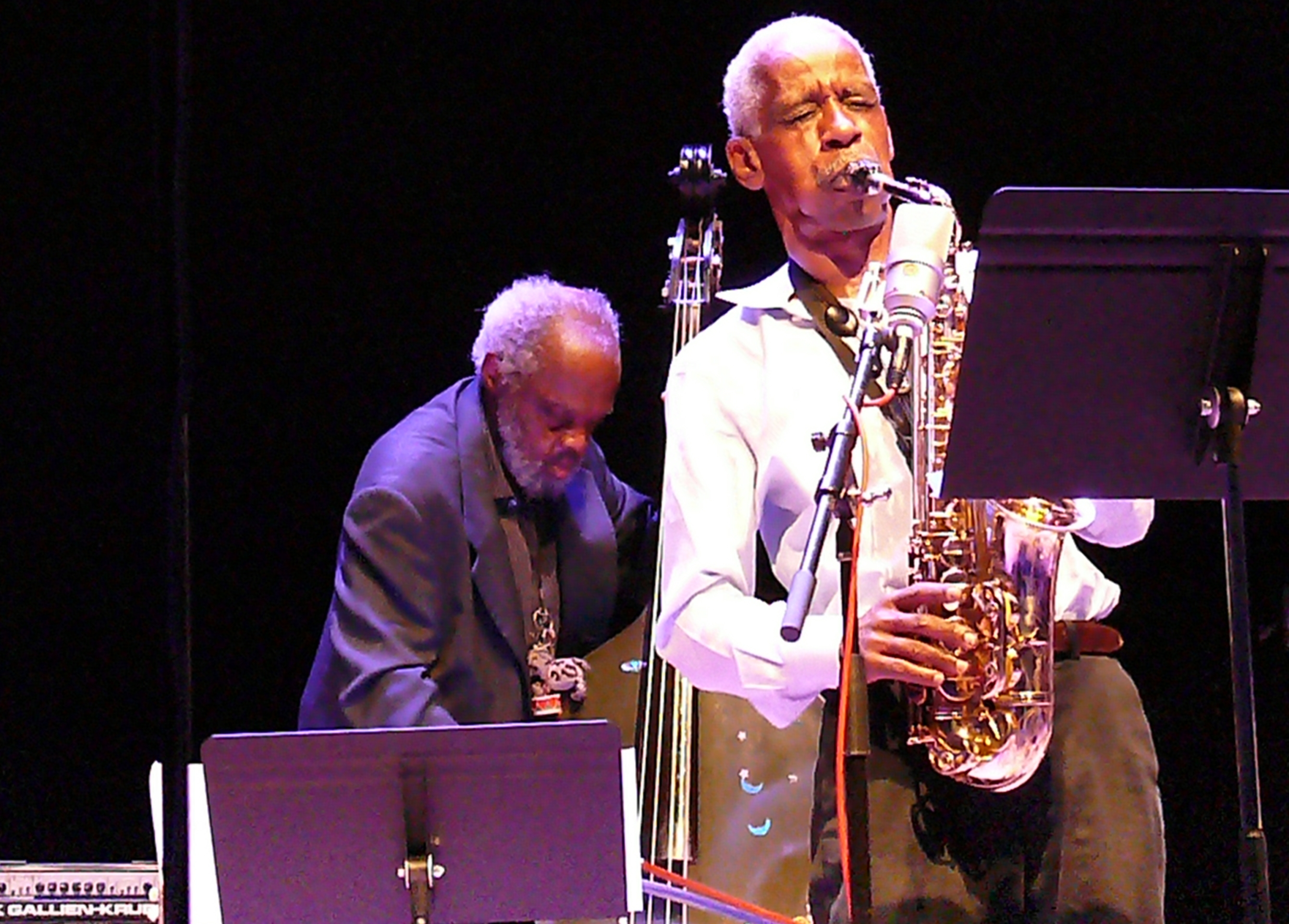 Henry grimes and roscoe mitchell at the vision festival, new york in june 2013