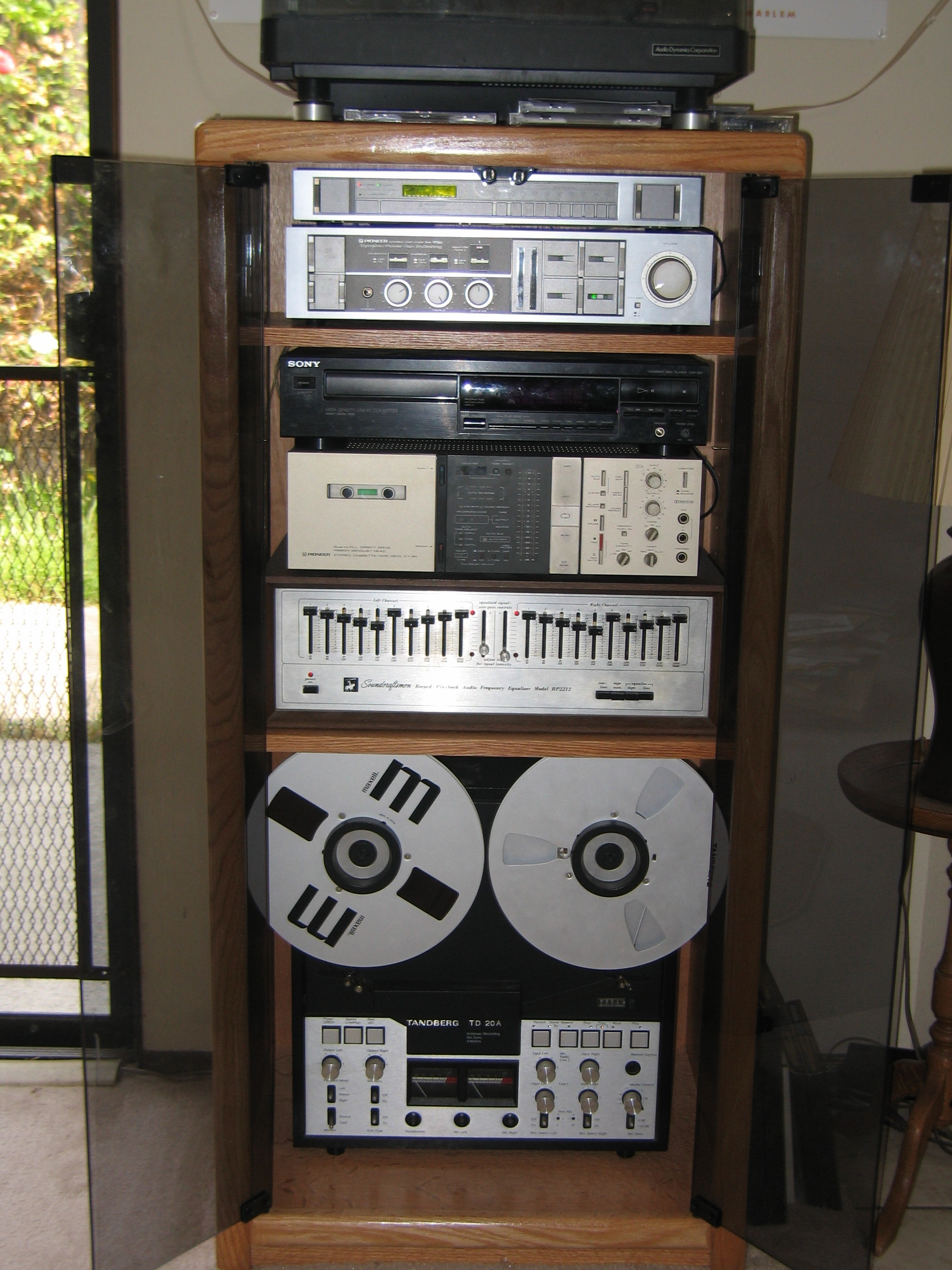 Kenneth Cobb's sound system; only the CD player has since been upgraded