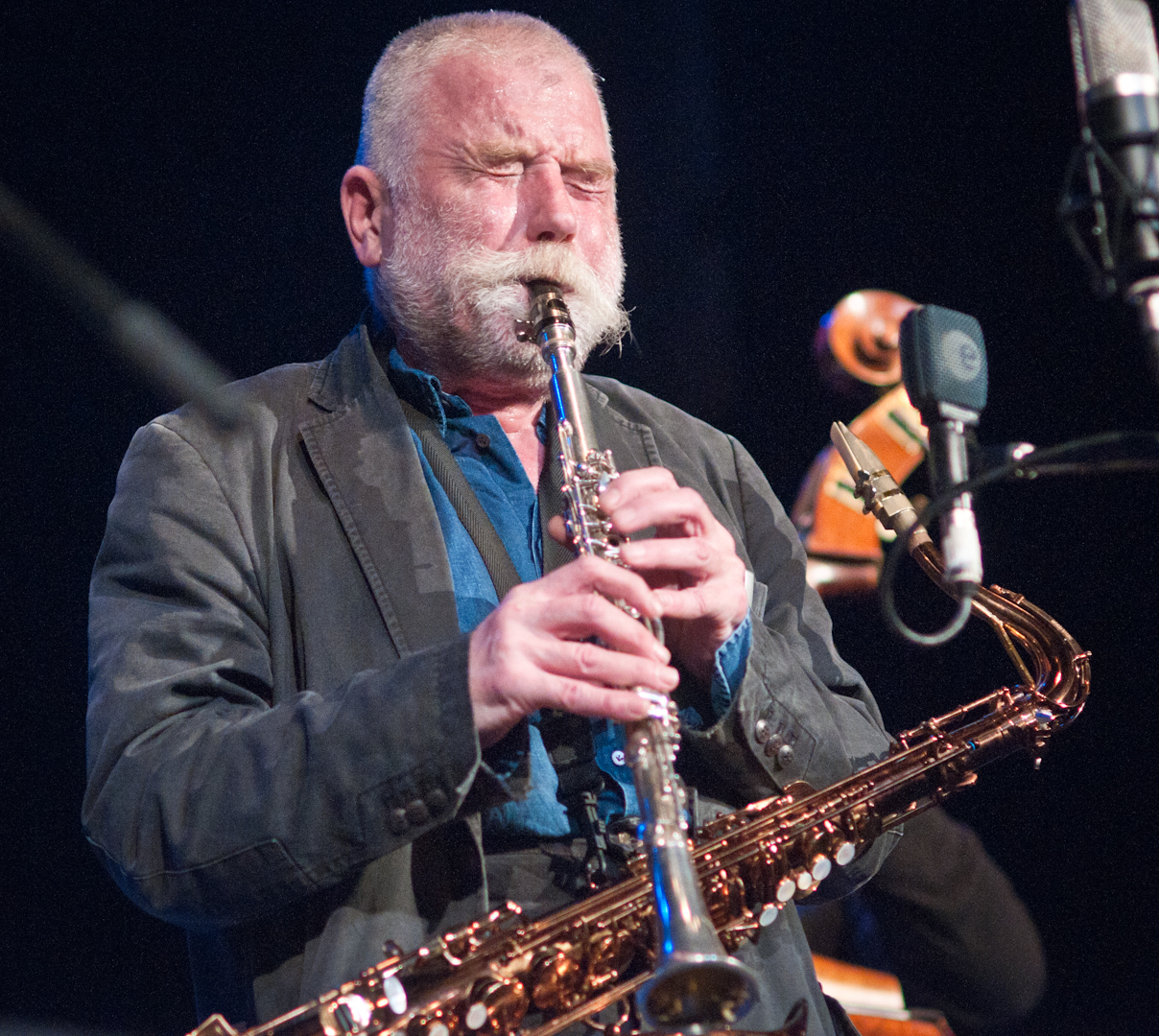 Peter Brotzmann with Quartet at the Vision Festival 2011