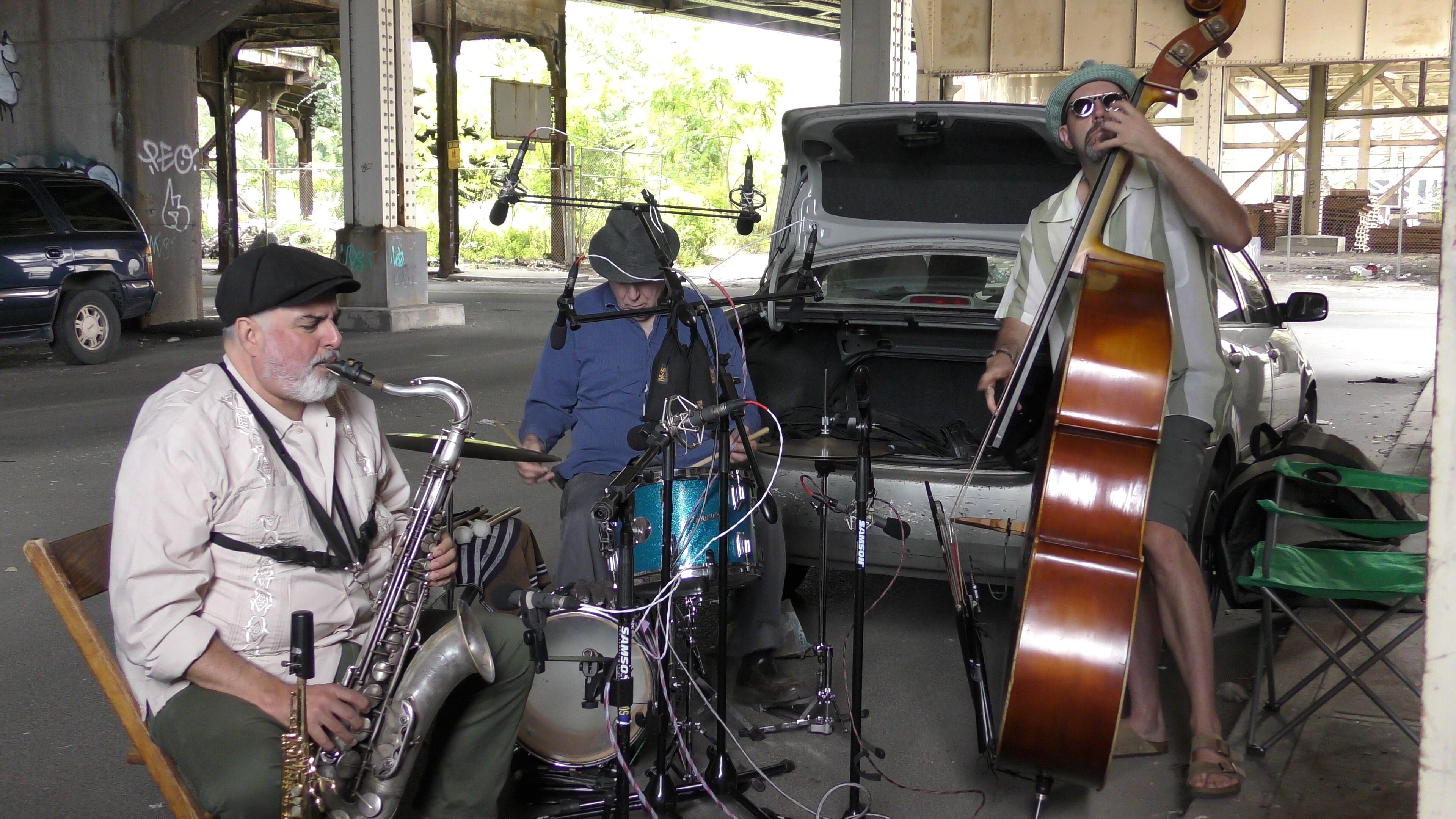 Tony Malaby, John Hebert and Billy Mintz under the Turnpike