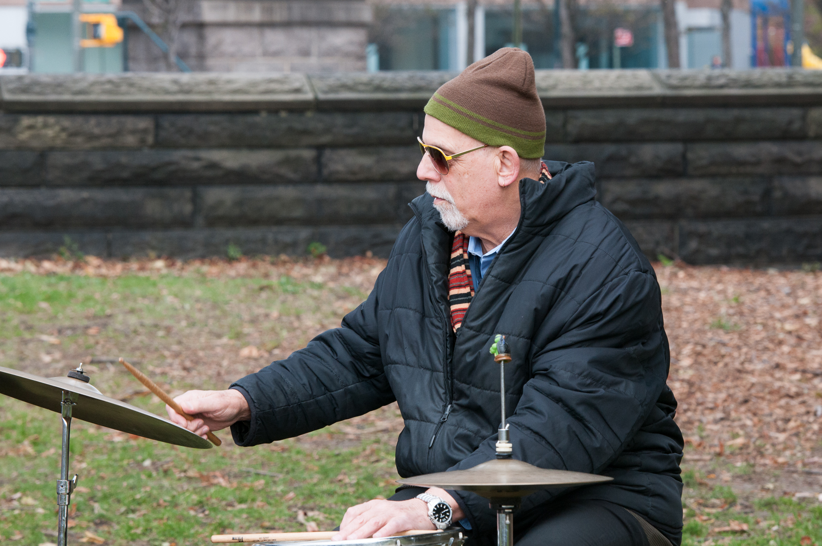 Bill Goodwin with Kirk Knuffke at Jazz and Colors in Central Park