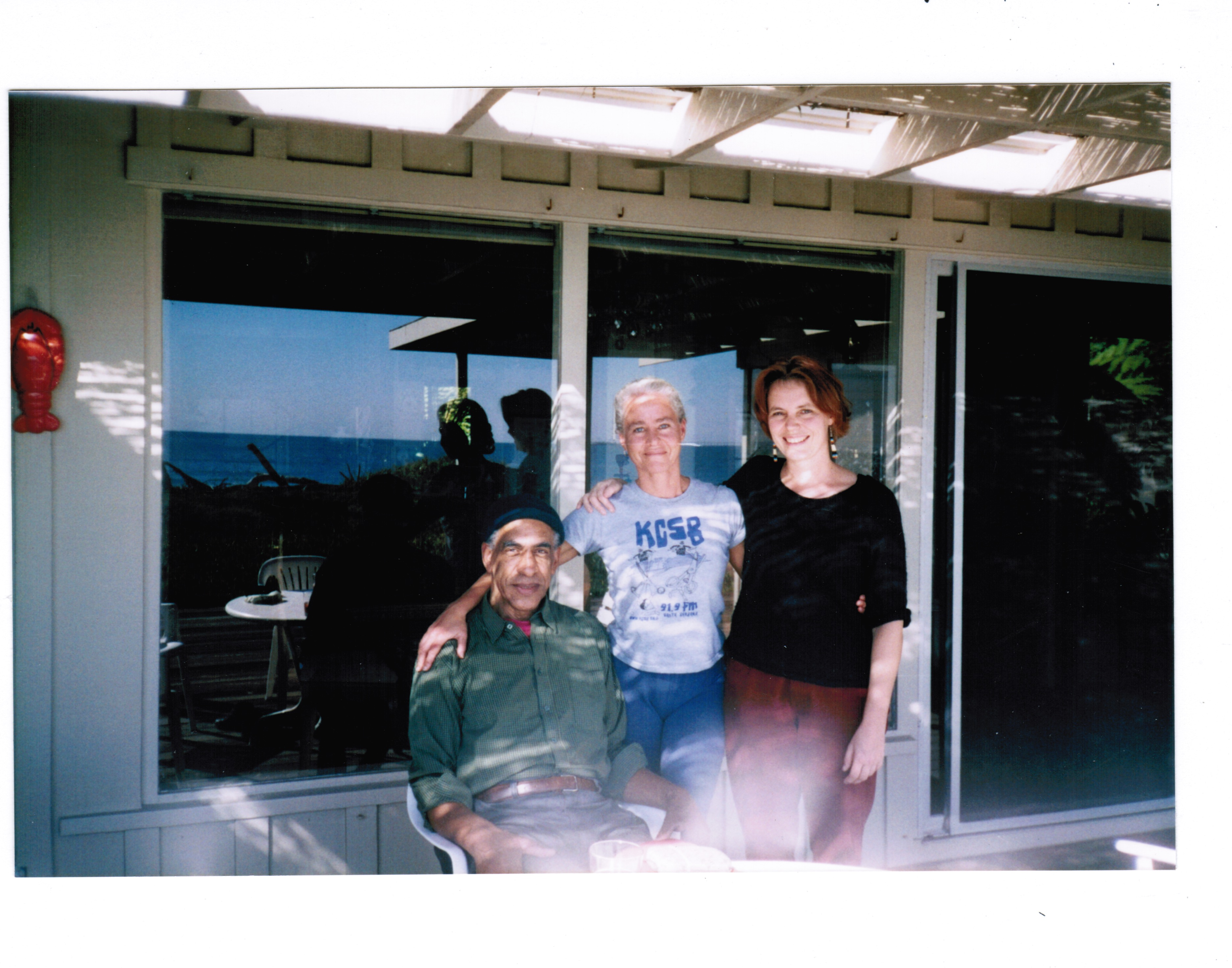 John Tchicai, Marta Ulvaeus, Margriet Naber at Rincon Point, CA.jpeg