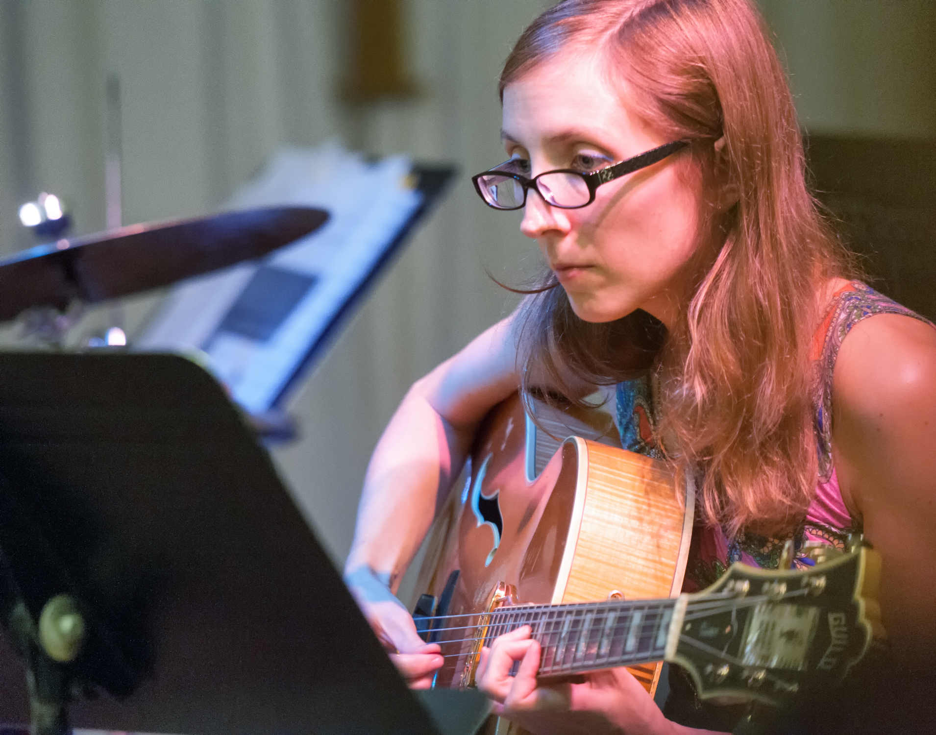 Mary halvorson with sifter at the neighborhood church of greenwich village