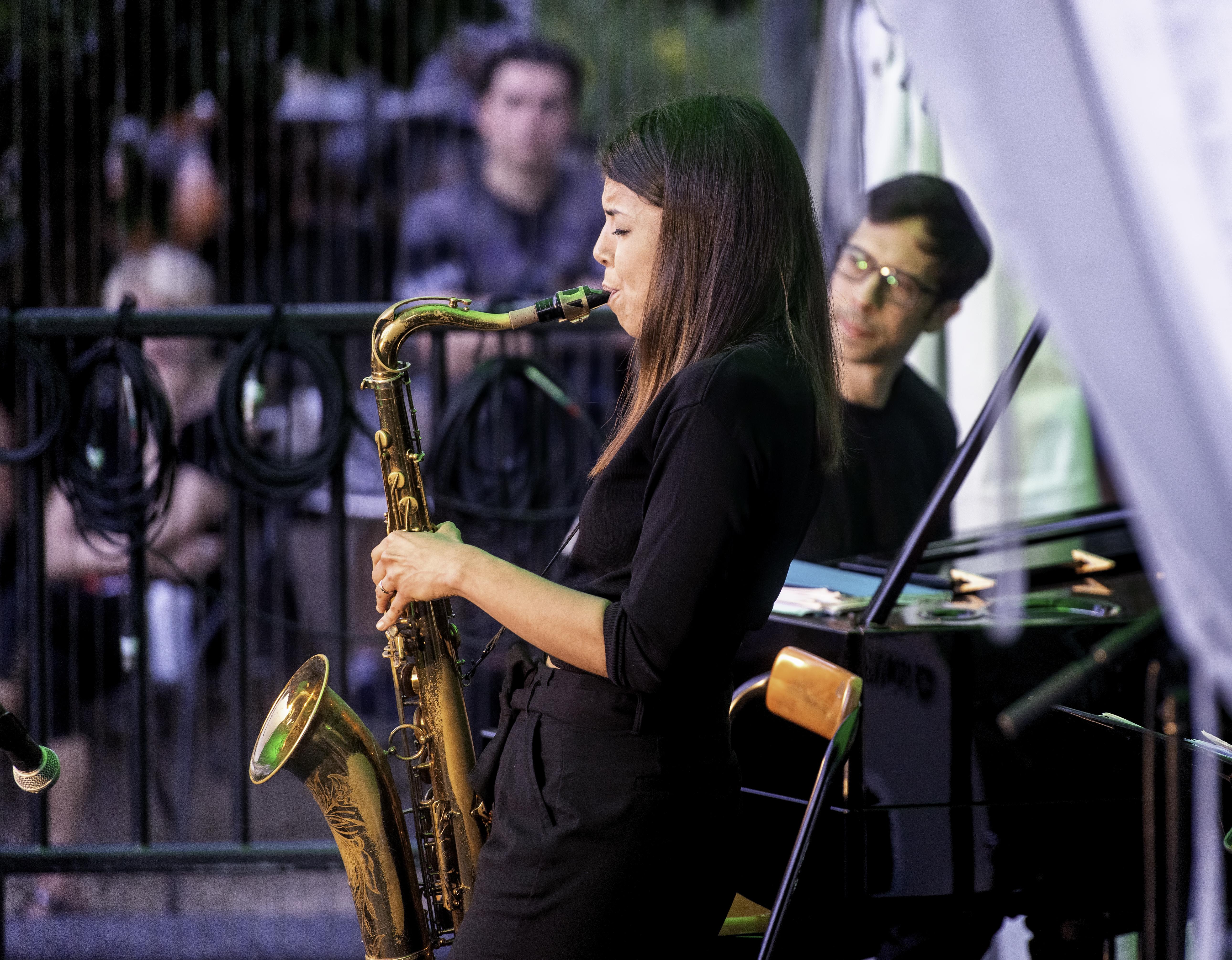 Melissa Aldana and Sam Harris at the Toronto Jazz Festival 2019