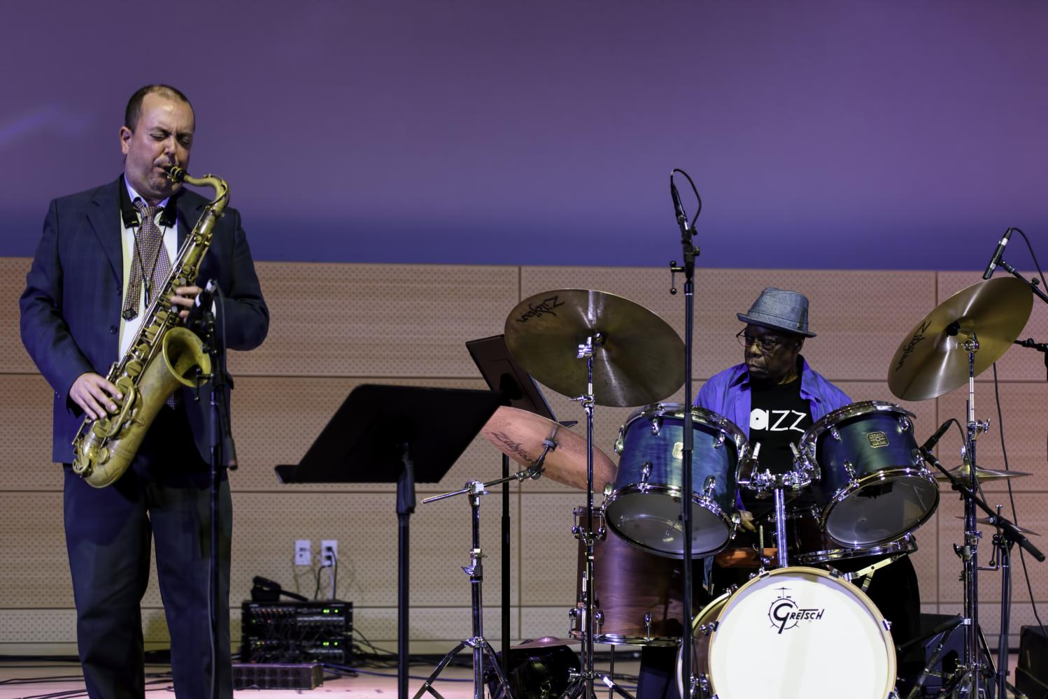 Bill McHenry and Andrew Cyrille at the NYC Winter Jazzfest 2017