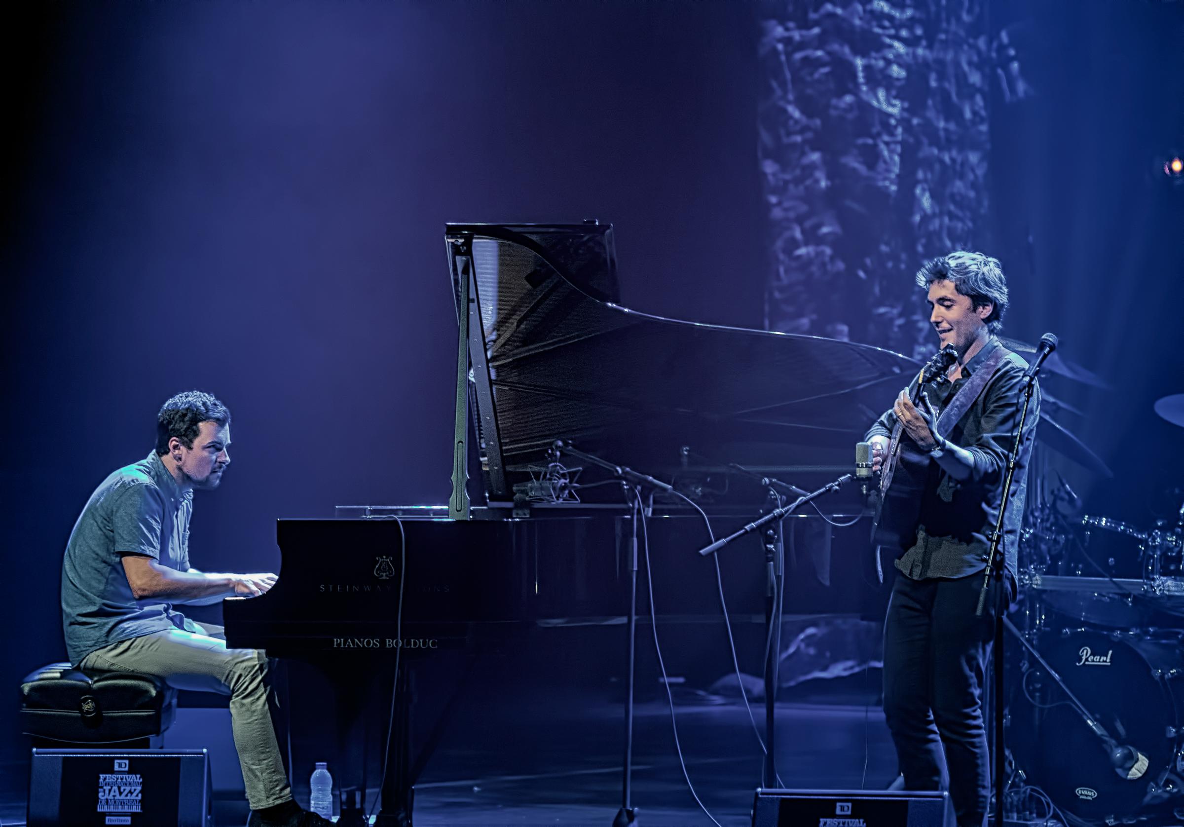Duo Francois Jalbert (guitar) And Jerome Beaulieu (piano) At The Montreal International Jazz Festival 2018