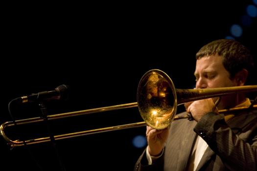 Adrian Mears of Anthony Cox Quartet - Gdansk in Jan. 2008