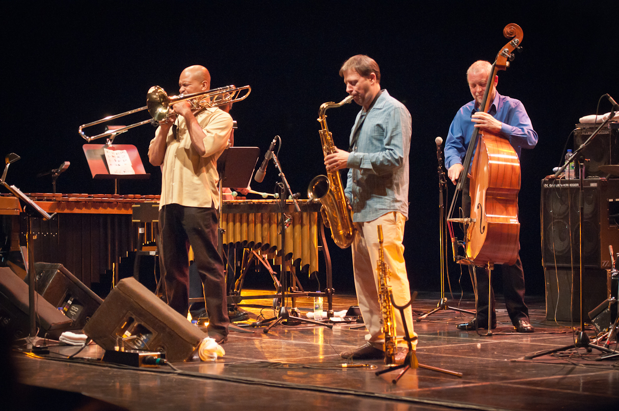Robin Eubanks, Chris Potter and Dave Holland with the Dave Holland Quintet at the Montreal International Jazz Festival