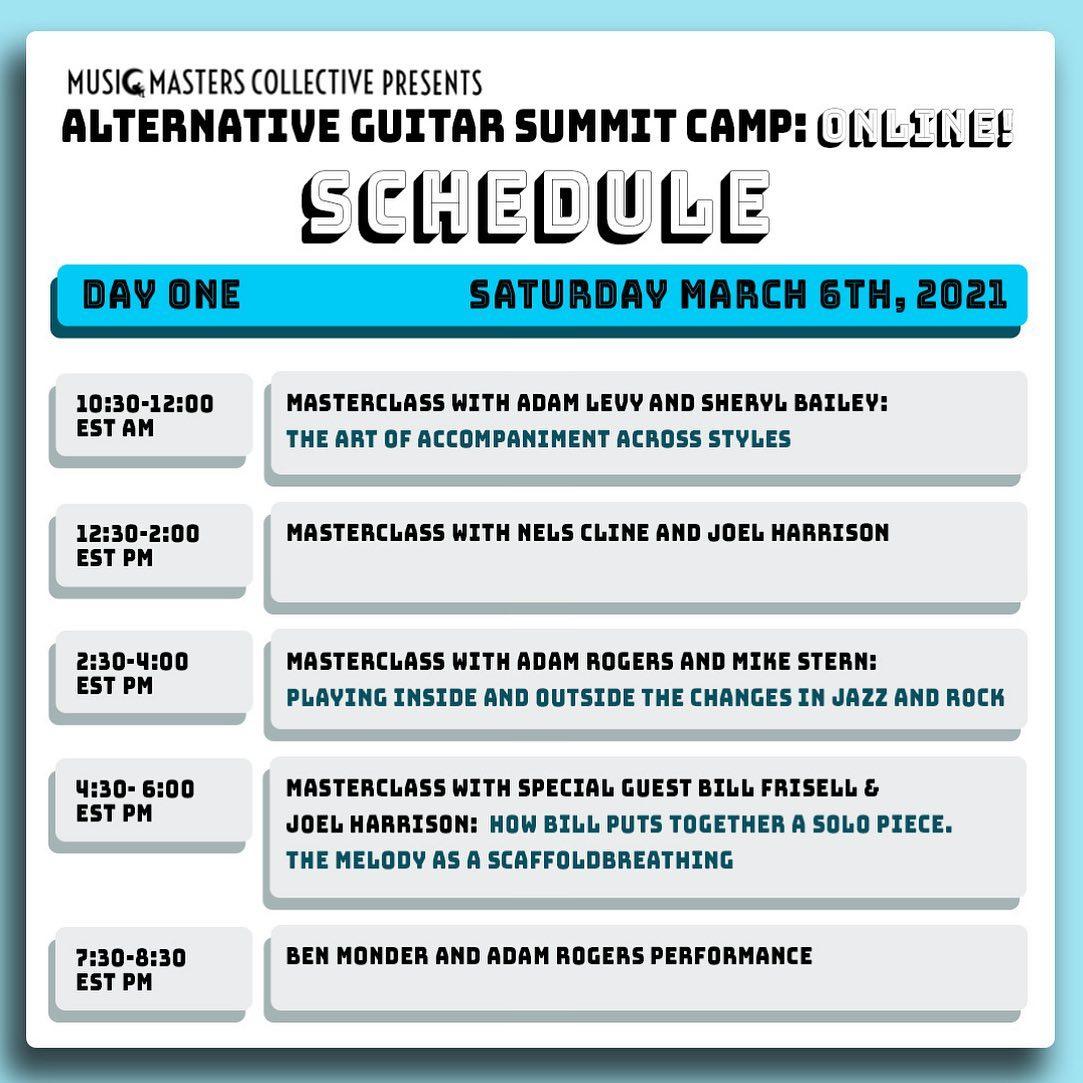 Alternative Guitar Summit 2021 Online Camp: Master Classes–Schedule #1