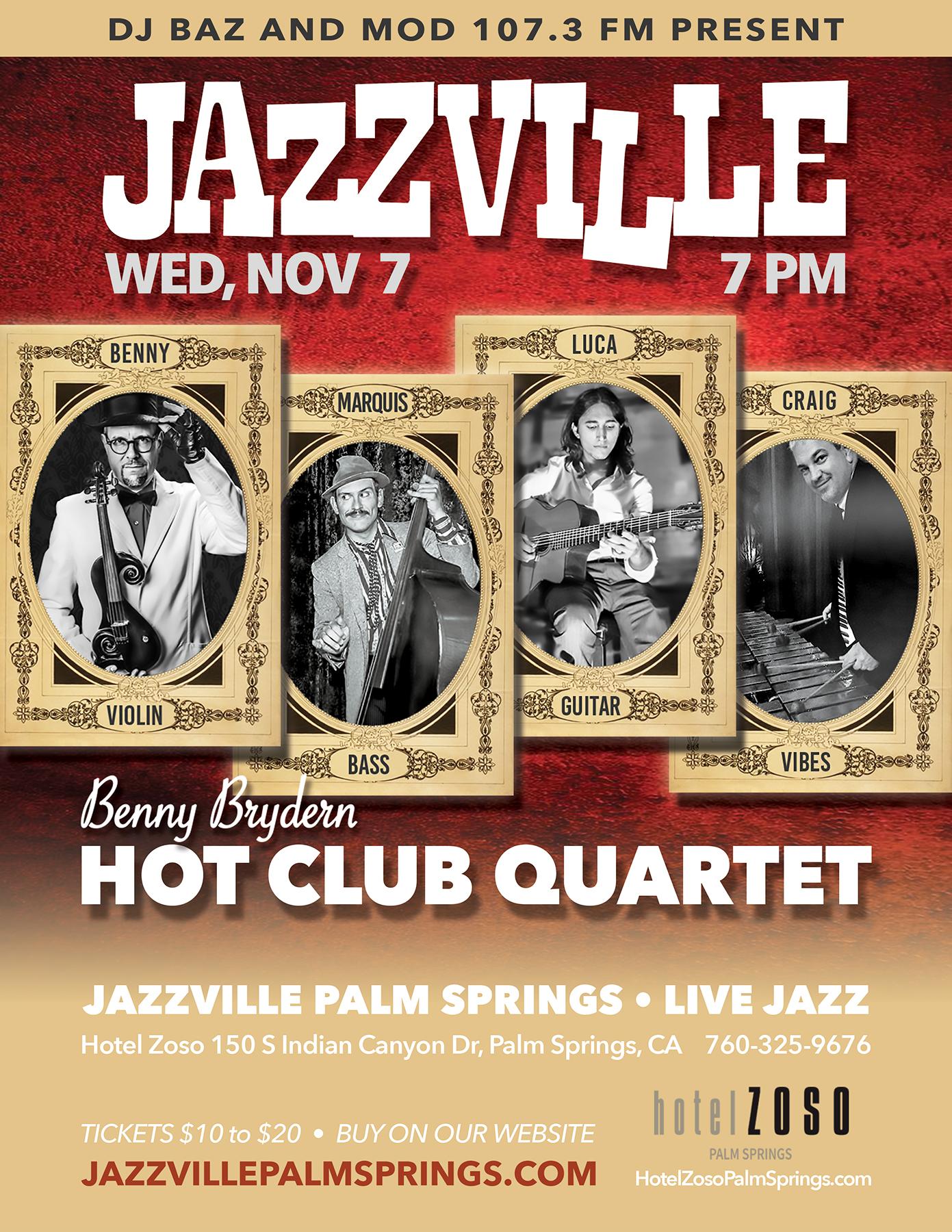 Jazzville Palm Springs - Benny Brydern Hot Club Quartet