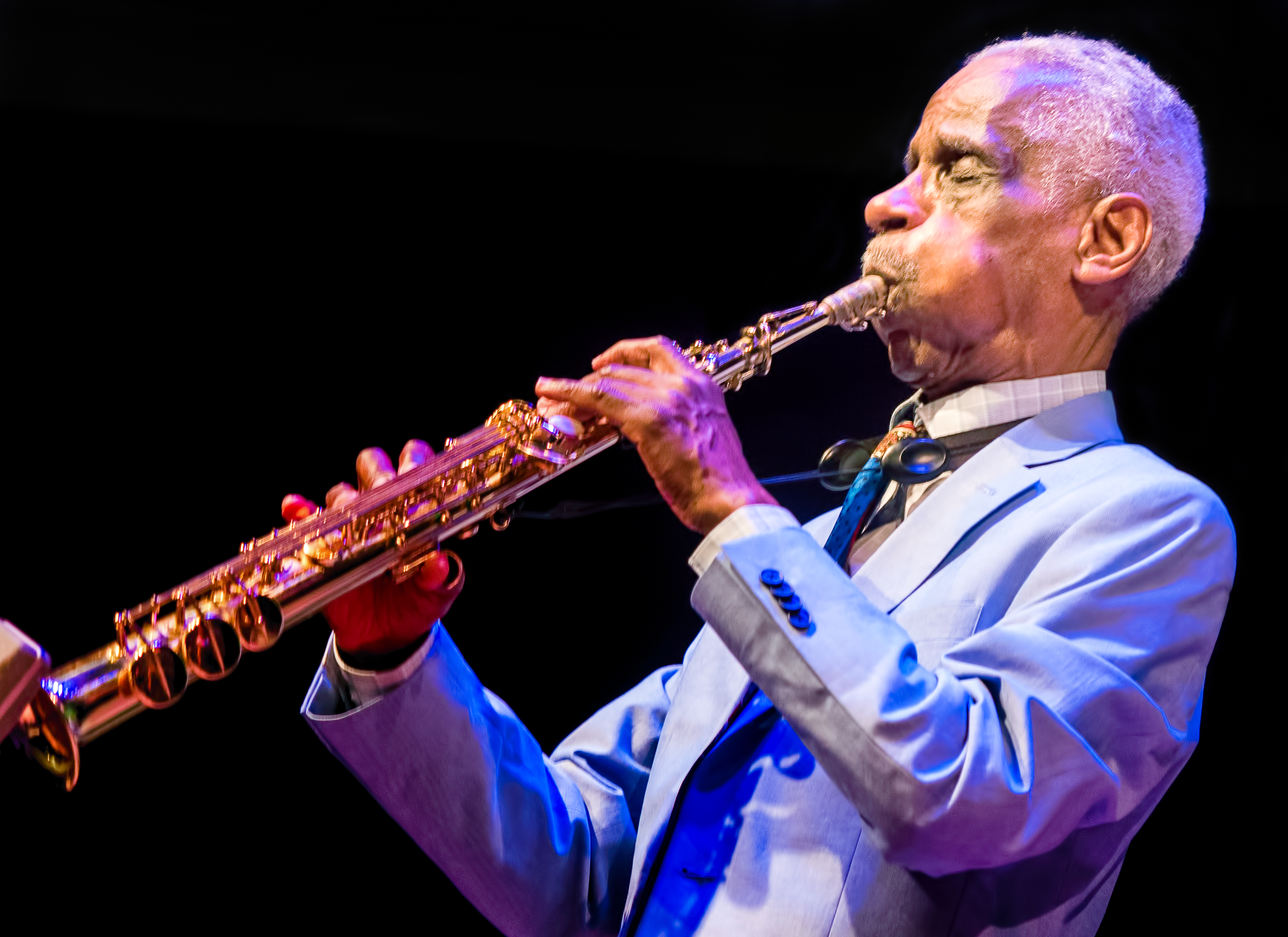 Roscoe Mitchell with the Space Trio At the Vision Festival 2018