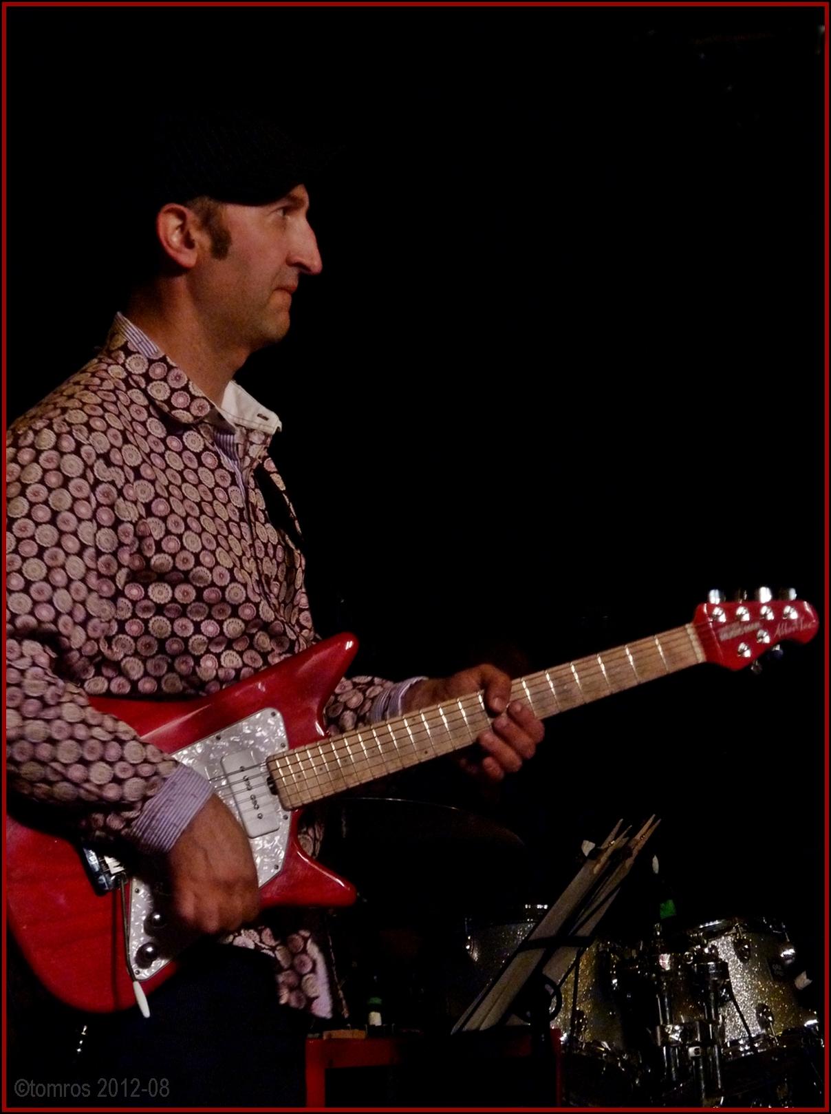 Michael Occhipinti, Sideman to Don Byron at Markham Jazz Festival, August 18, 2012