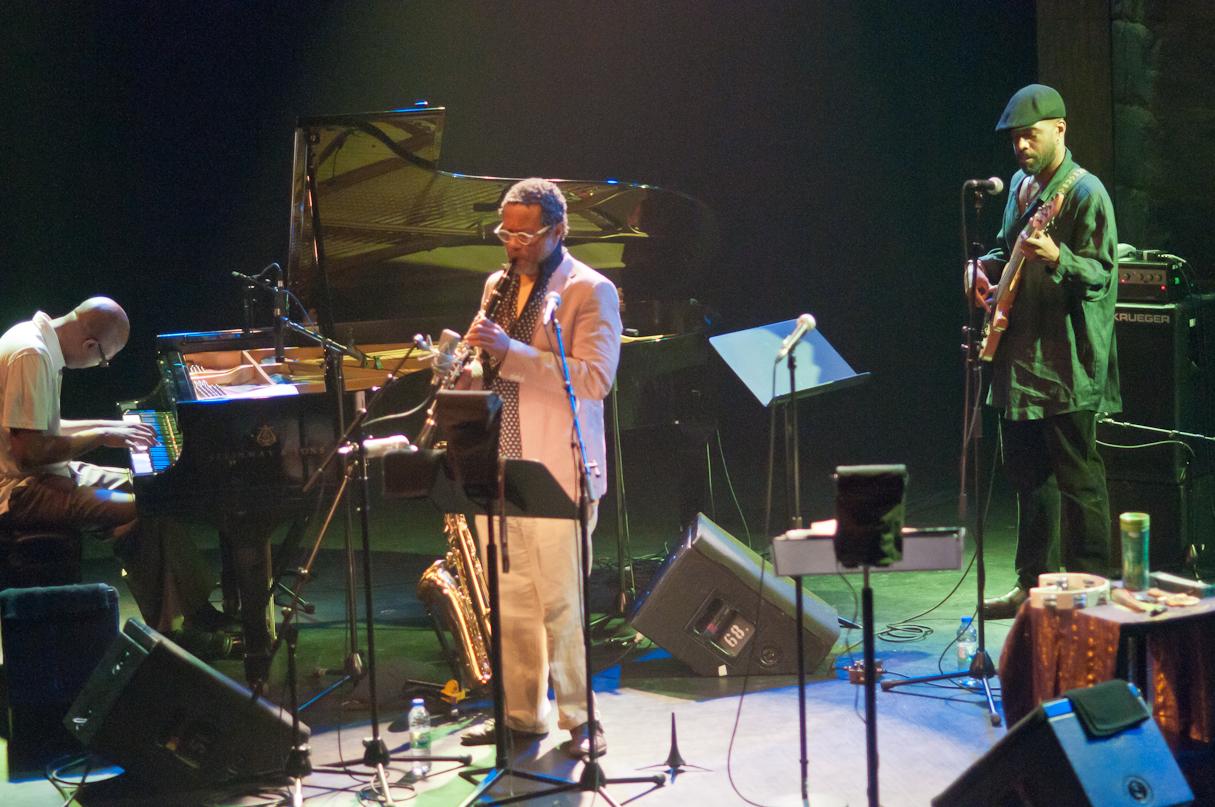 Xavier Davis, Don Byron, Brad Jones with the Don Byron New Gospel Quintet at the Montreal International Jazz Festival