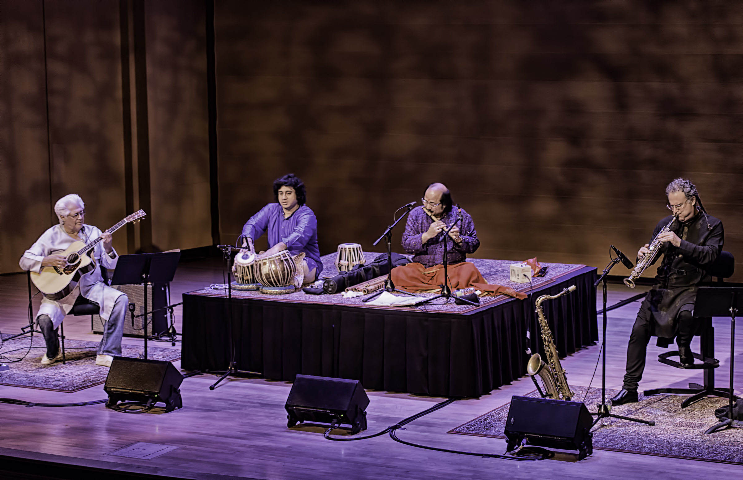 Larry Coryell, Aditya Kalyanpur, Ronu Majumdar And George Brooks With Bombay Jazz At The Musical Instrument Museum (mim) In Phoenix