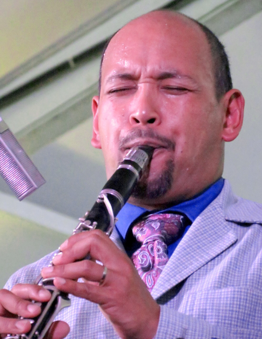 Evan christopher leading clarinet road at 2013 chicago jazz festival
