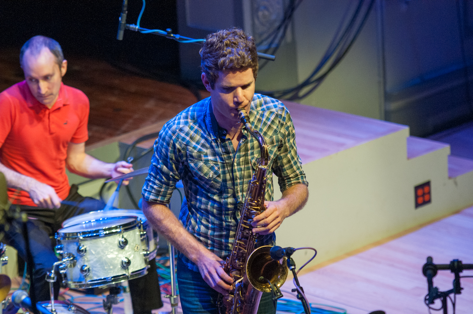 Ben Wendel and Nate Wood with Kneebody at the Vision Festival 2012