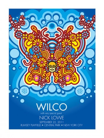 Wilco Central Park 2011 Event Poster