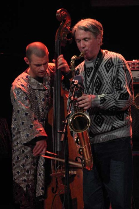 "Gilles Torrent and Francois Gallix with the ""Gilles Torrent Free Quartet"" at the Amr Jazz Festival, Alhambra, Geneva, Switzerlan"