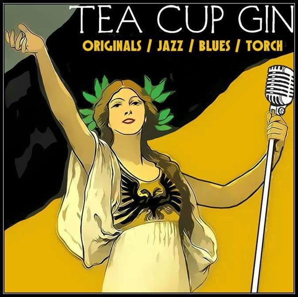 Tea Cup Gin Promo Logo