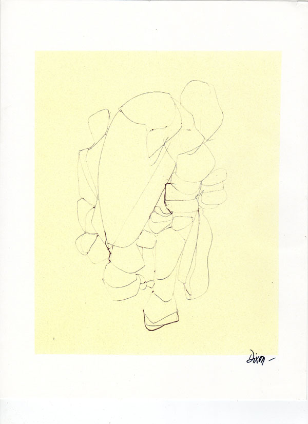 "Bill Dixon Gallery: Untitled Drawing - 8 1/2 X 11"" Ink (Black) on Paper - CA. 2004"