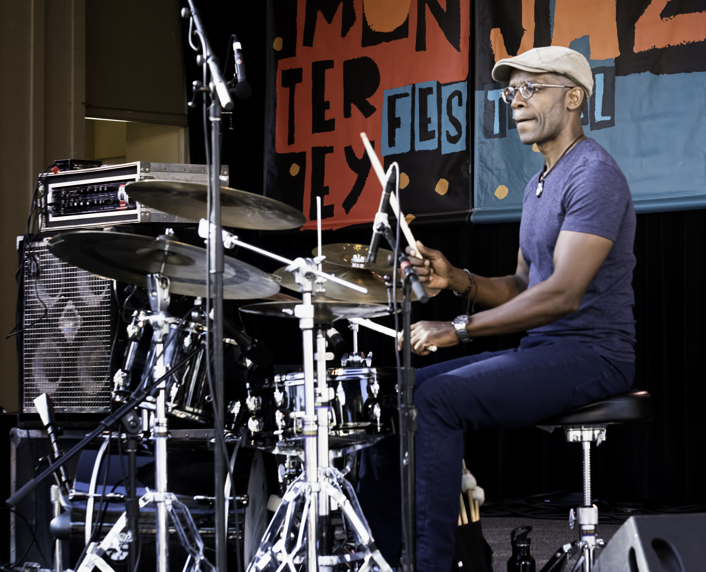 Rudy Royston with the Linda May Han Oh Quintet at the Monterey Jazz Festival