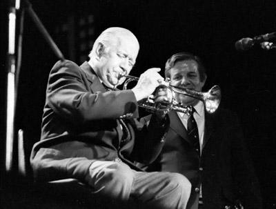 Wild Bill Davison 0429605 Lewisham Jazz Fest., Lewisham, London. 1986 Images of Jazz