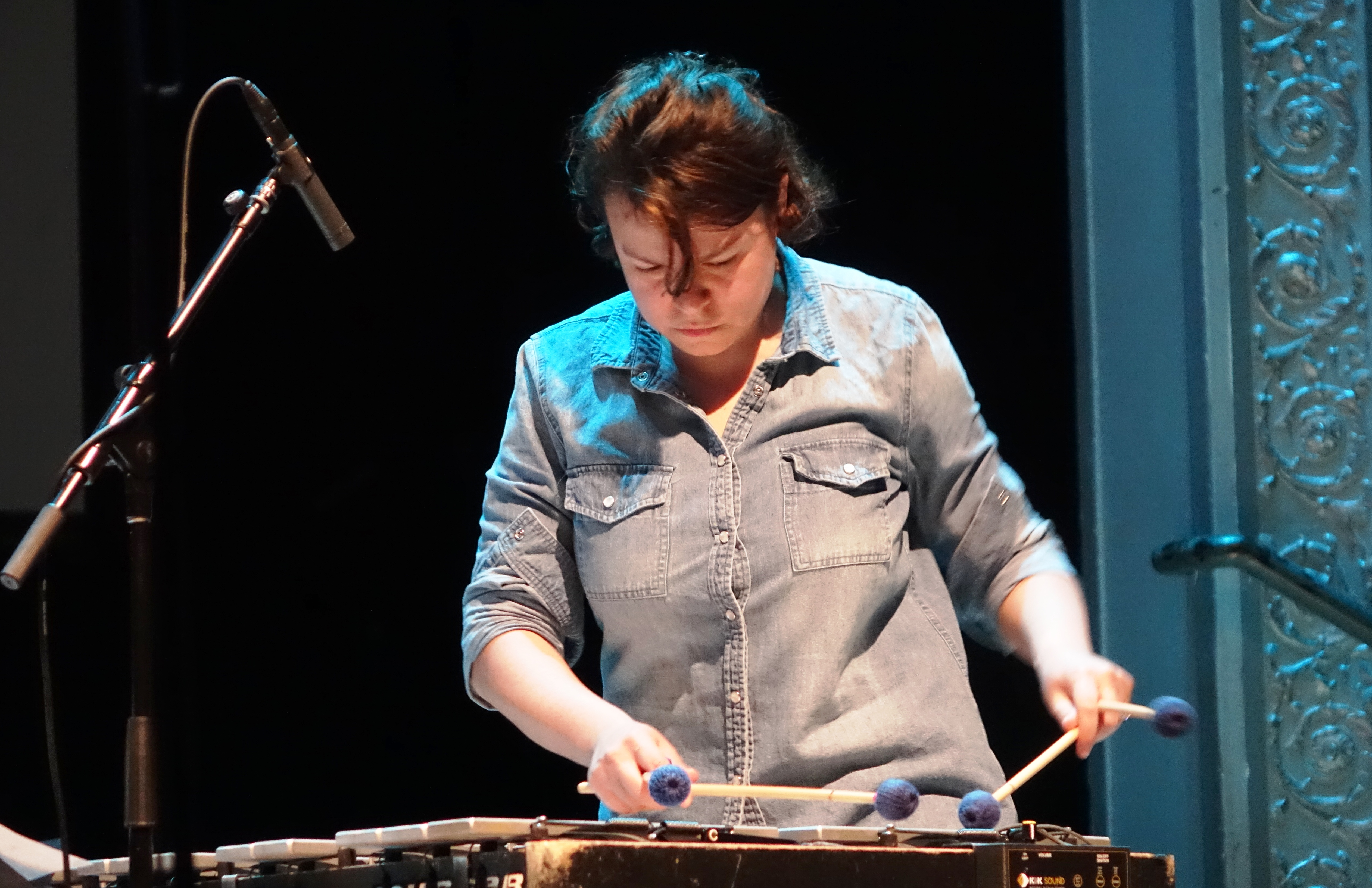Patricia Brennan at the Vision Festival in Roulette, Brooklyn in June 2019