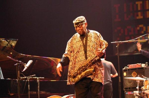 """Dewey Redman with """"Dewey Redman Quartet"""" at Amr Jazz Festival, Alhambra, Geneva, Switzerland, 2004"""